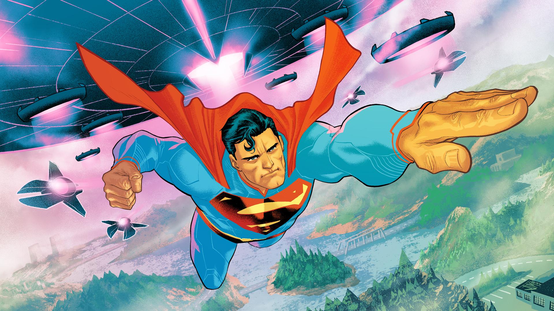Superman's loading screen in Fortnite