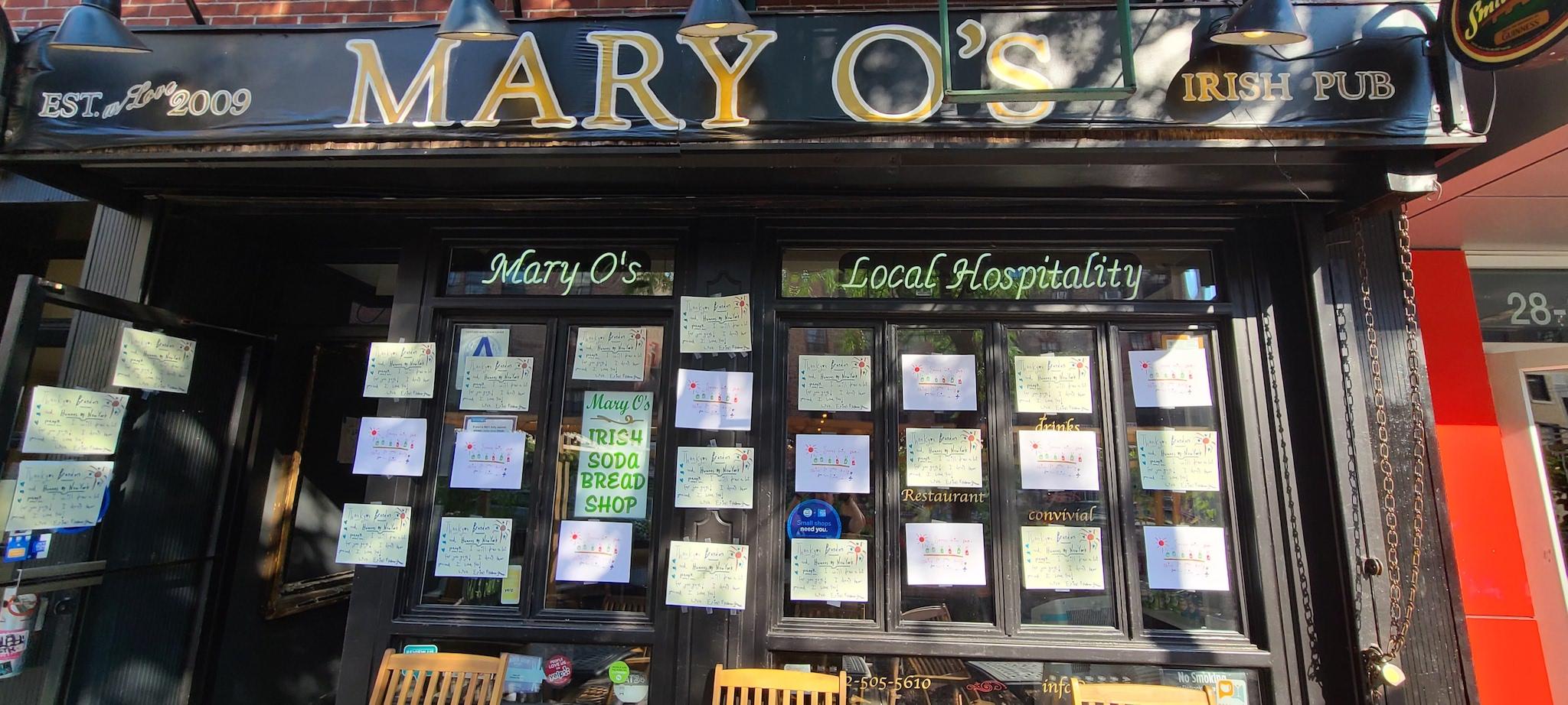 Mary O's Irish pub in the East Village