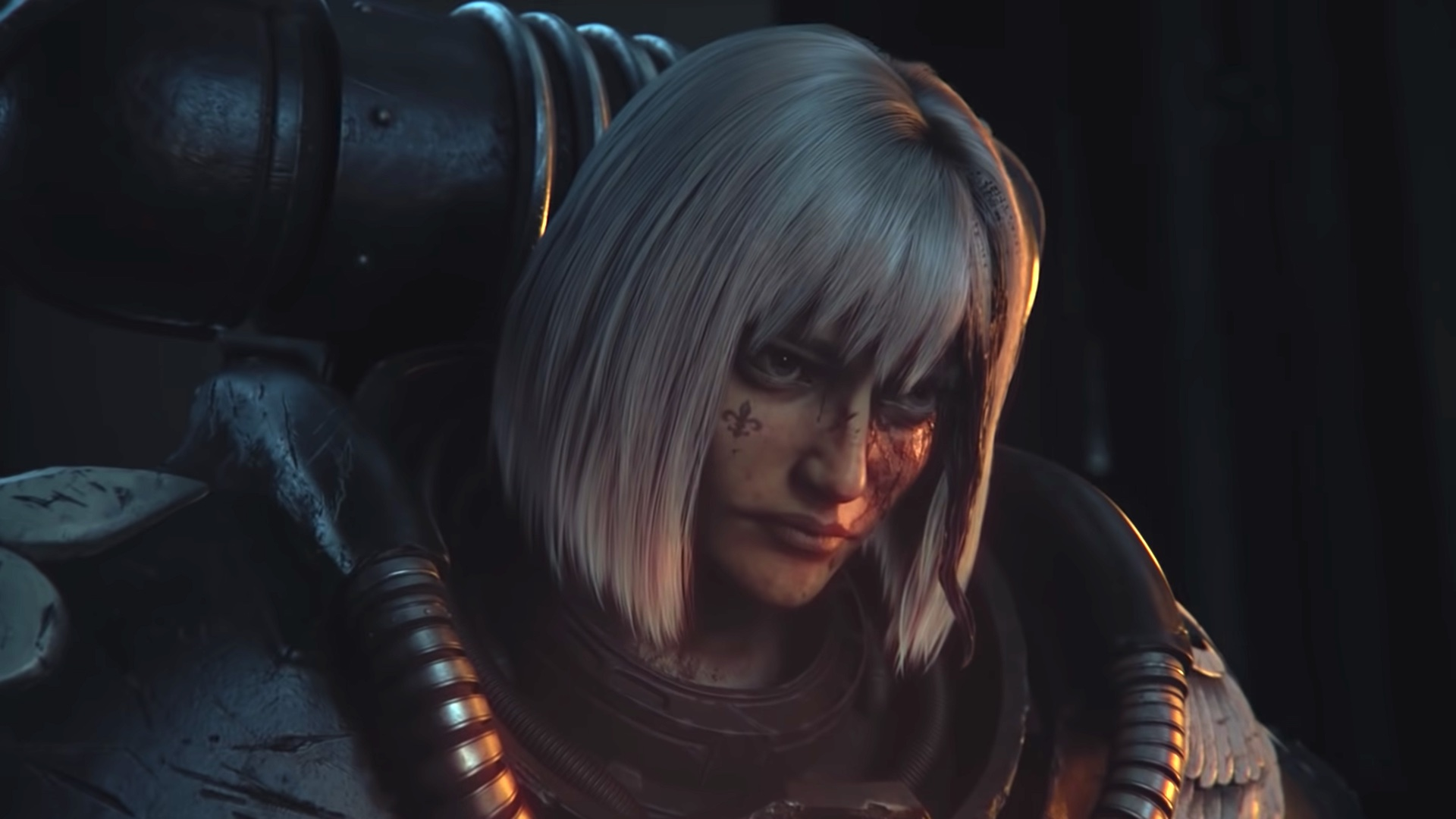 A Sister of Battle from Warhammer 40,000