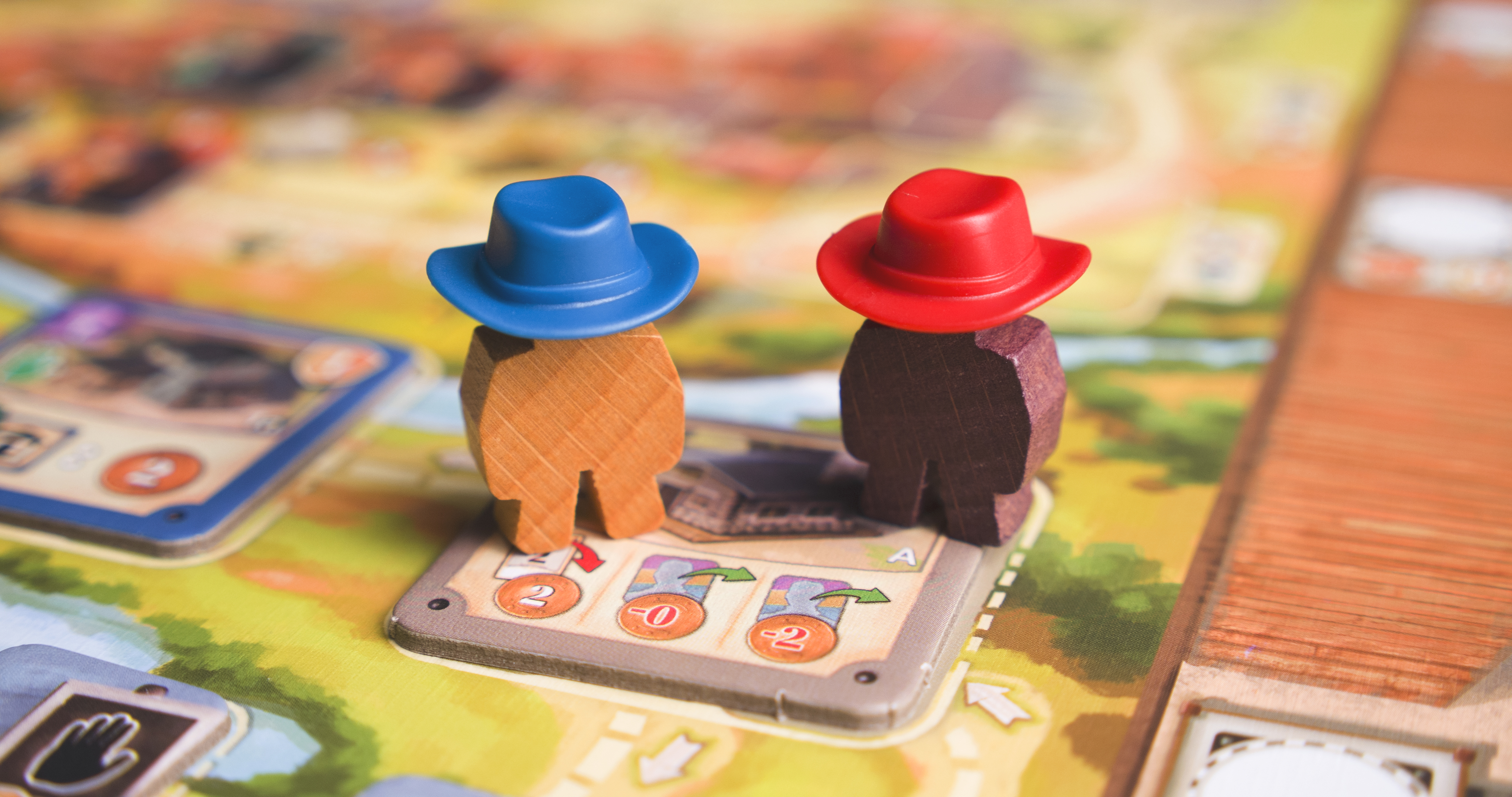 The meeples in GWT wear 10-gallon hats.