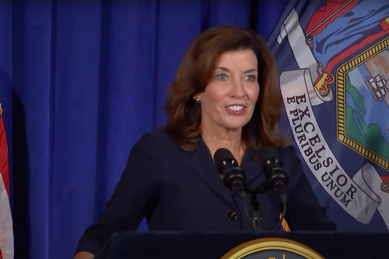 Screenshot of Incoming Governor Kathy Hochul on Aug 11th 2021