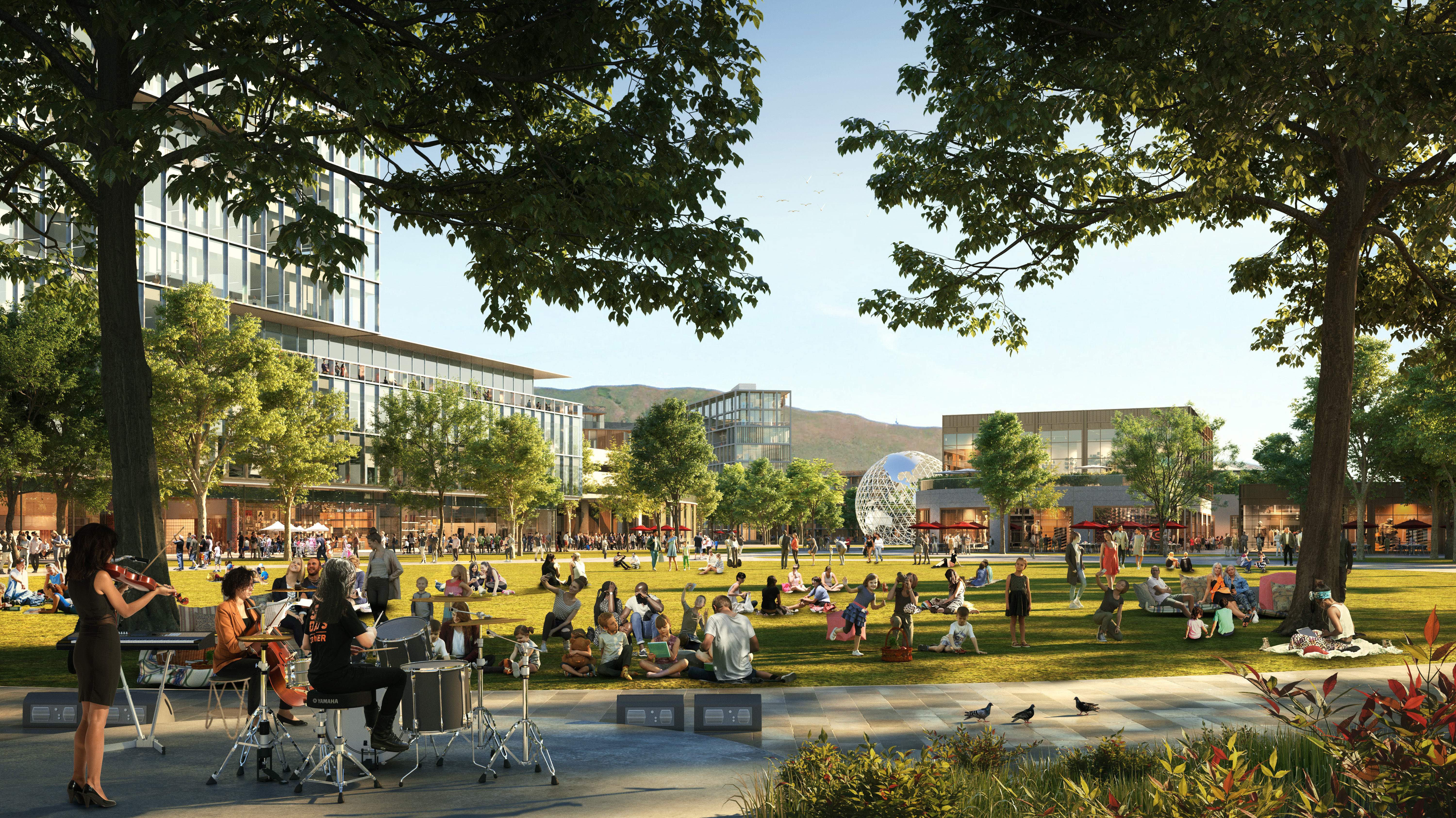 The Point of the Mountain State Land Authority has released new renderings of what the southern Salt Lake County development might look like, including this rendering of what is being called Central Park.