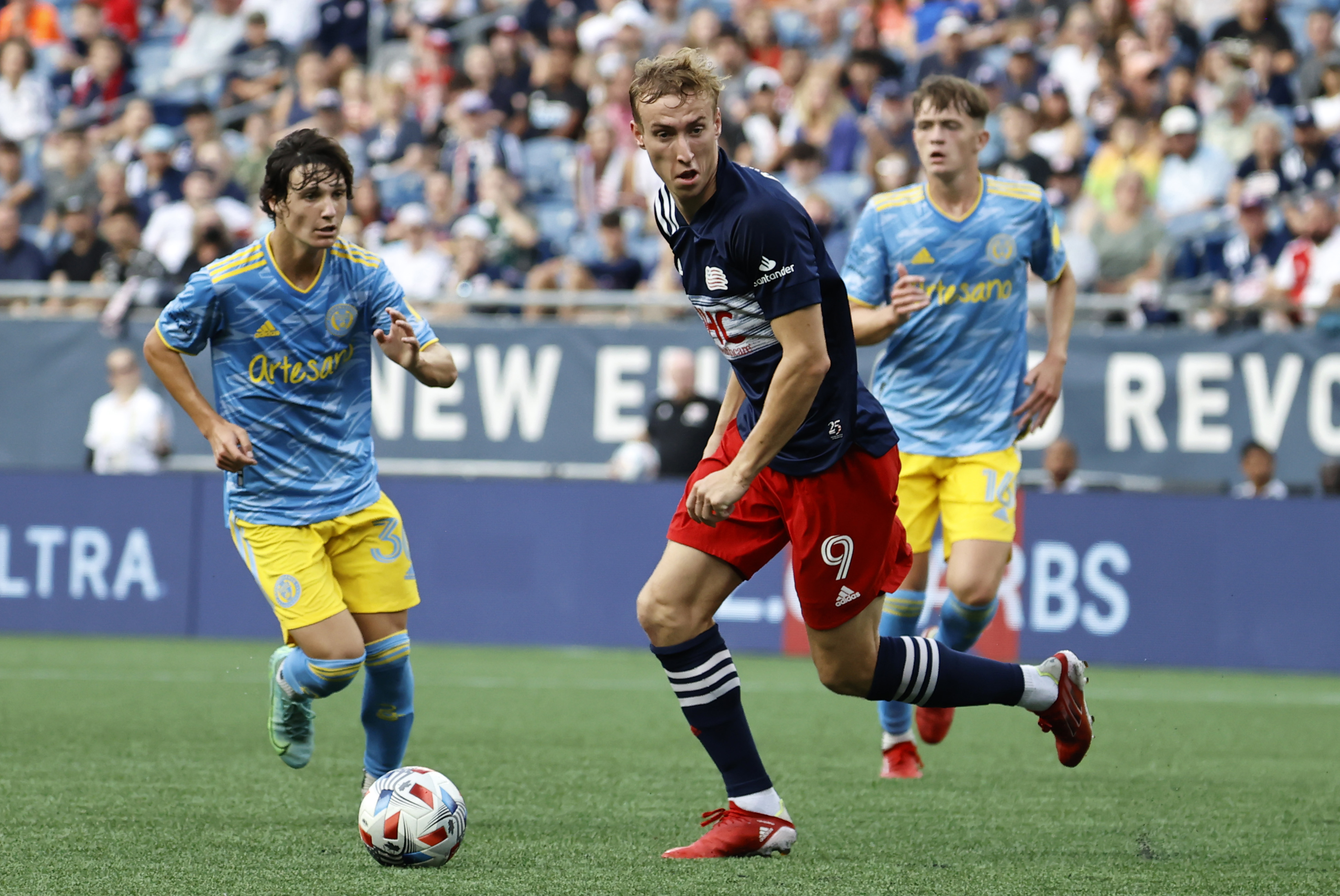SOCCER: AUG 08 MLS - Philadelphia Union at New England Revolution