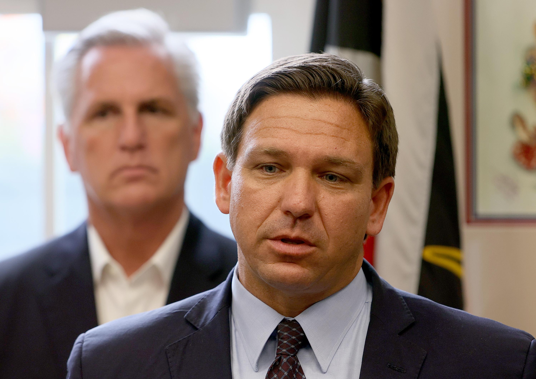 Minority Leader McCarthy And Florida Gov. De Santis Hold Press Conference On Cuba