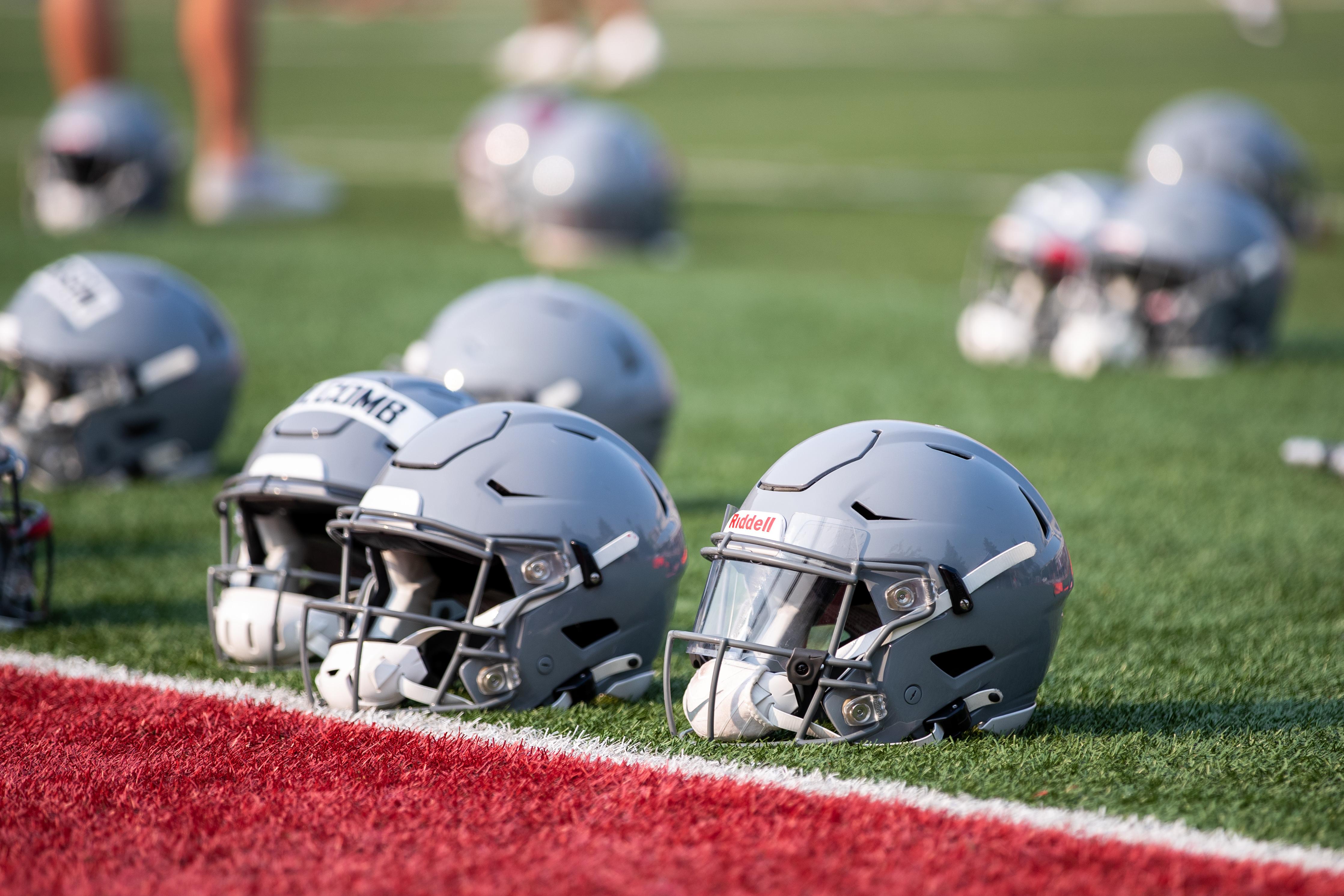 Washington State University Football Fall Practice 6 - Football Helmets