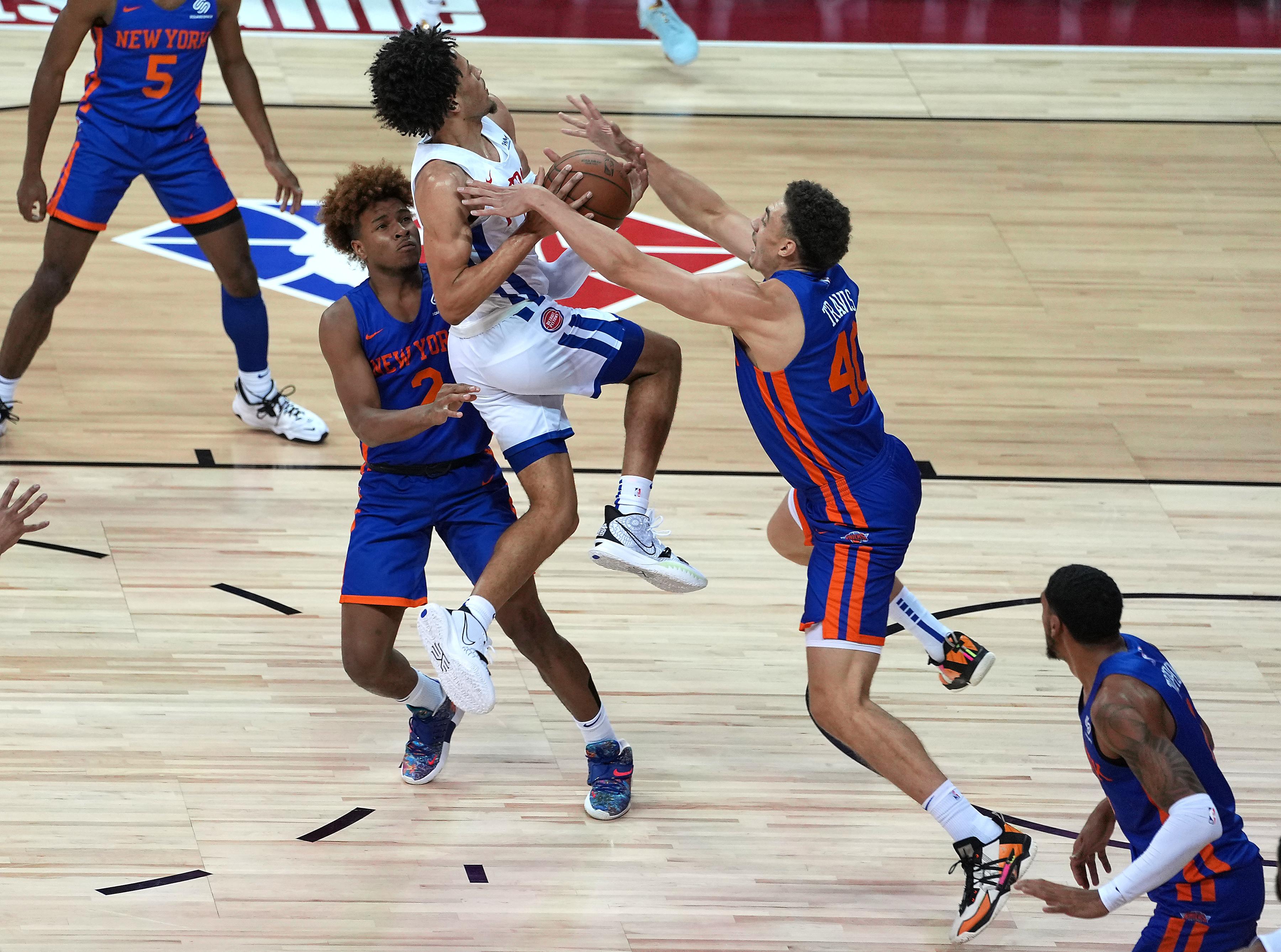 NBA: Summer League-New York Knicks at Detroit Pistons