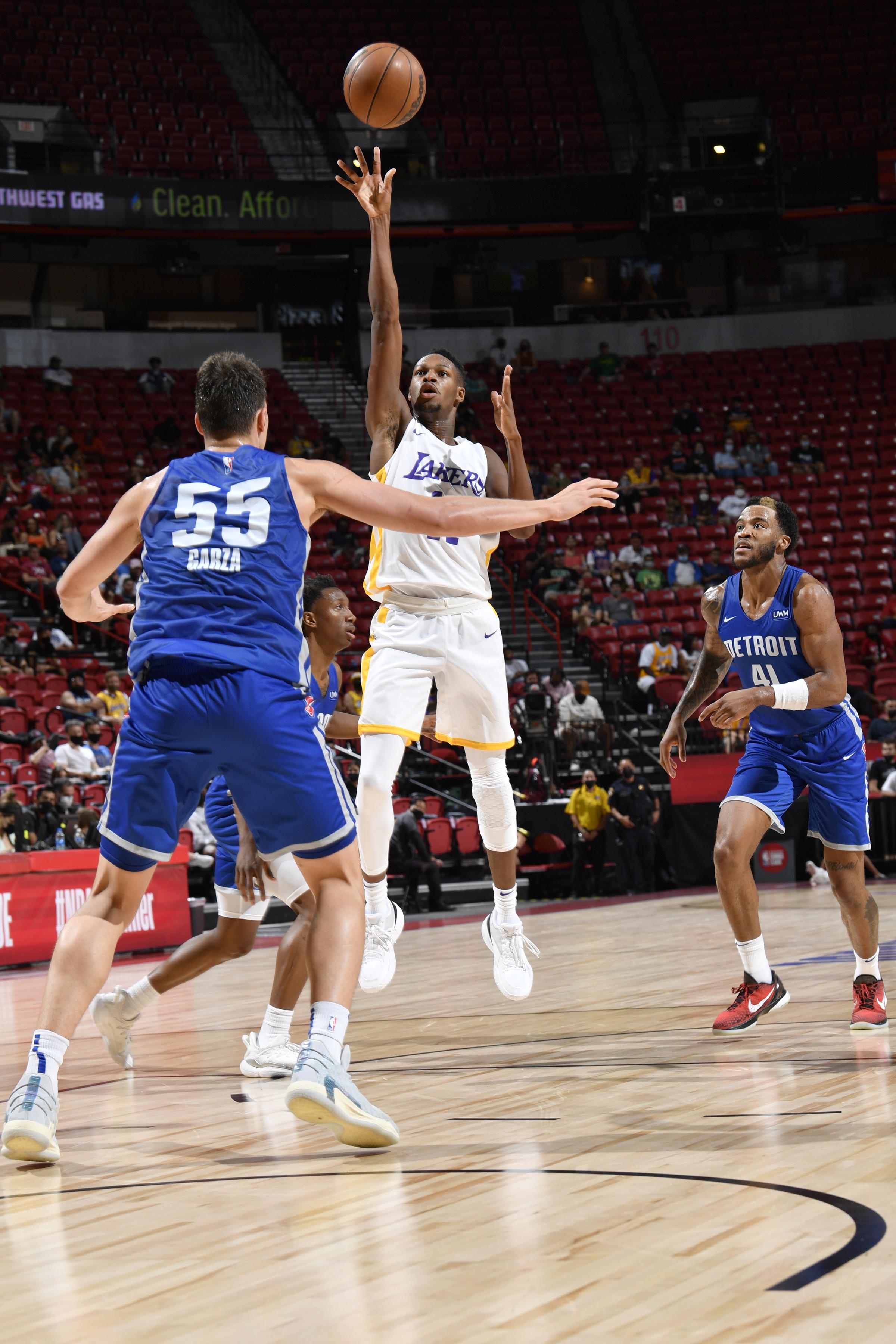 2021 Las Vegas Summer League - Detroit Pistons v Los Angeles Lakers