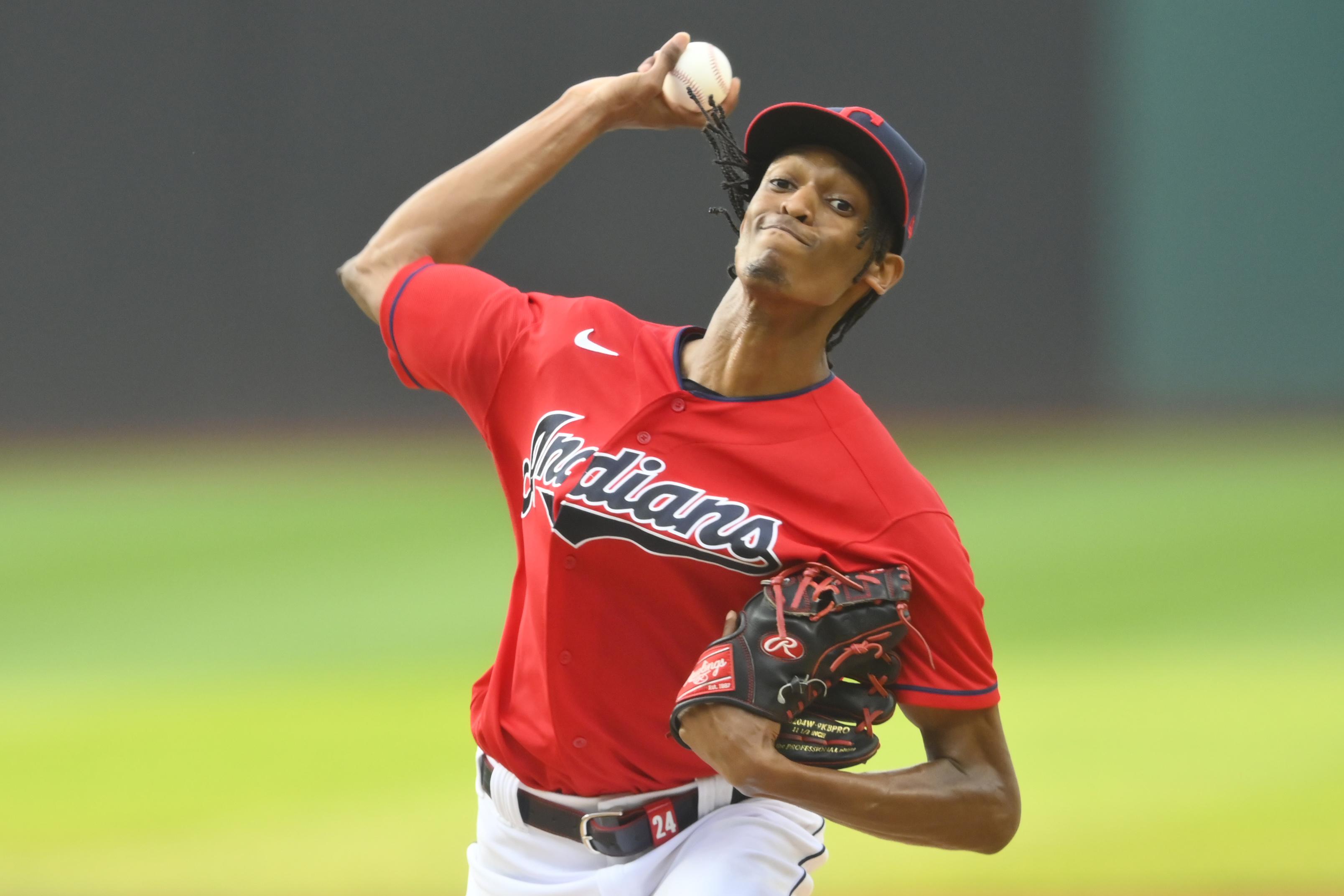 MLB: Oakland Athletics at Cleveland Indians