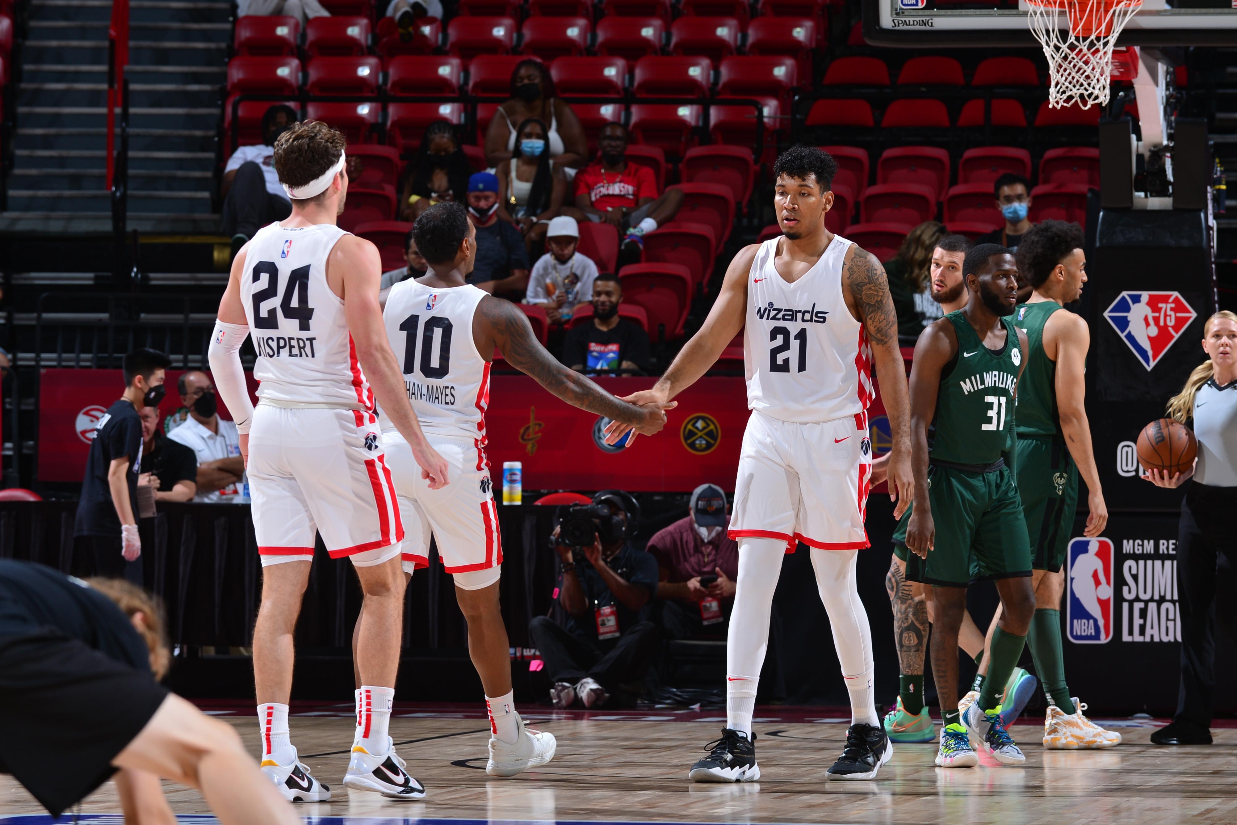 2021 Las Vegas Summer League - Milwaukee Bucks v Washington Wizards