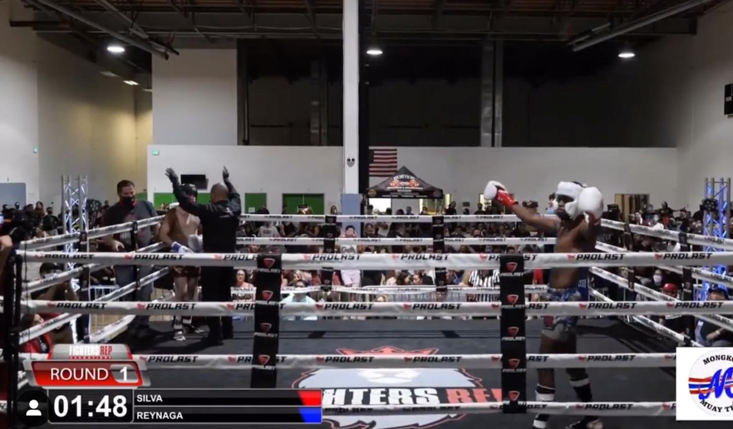 Anderson Silva's son Kalyl won his kickboxing debut.