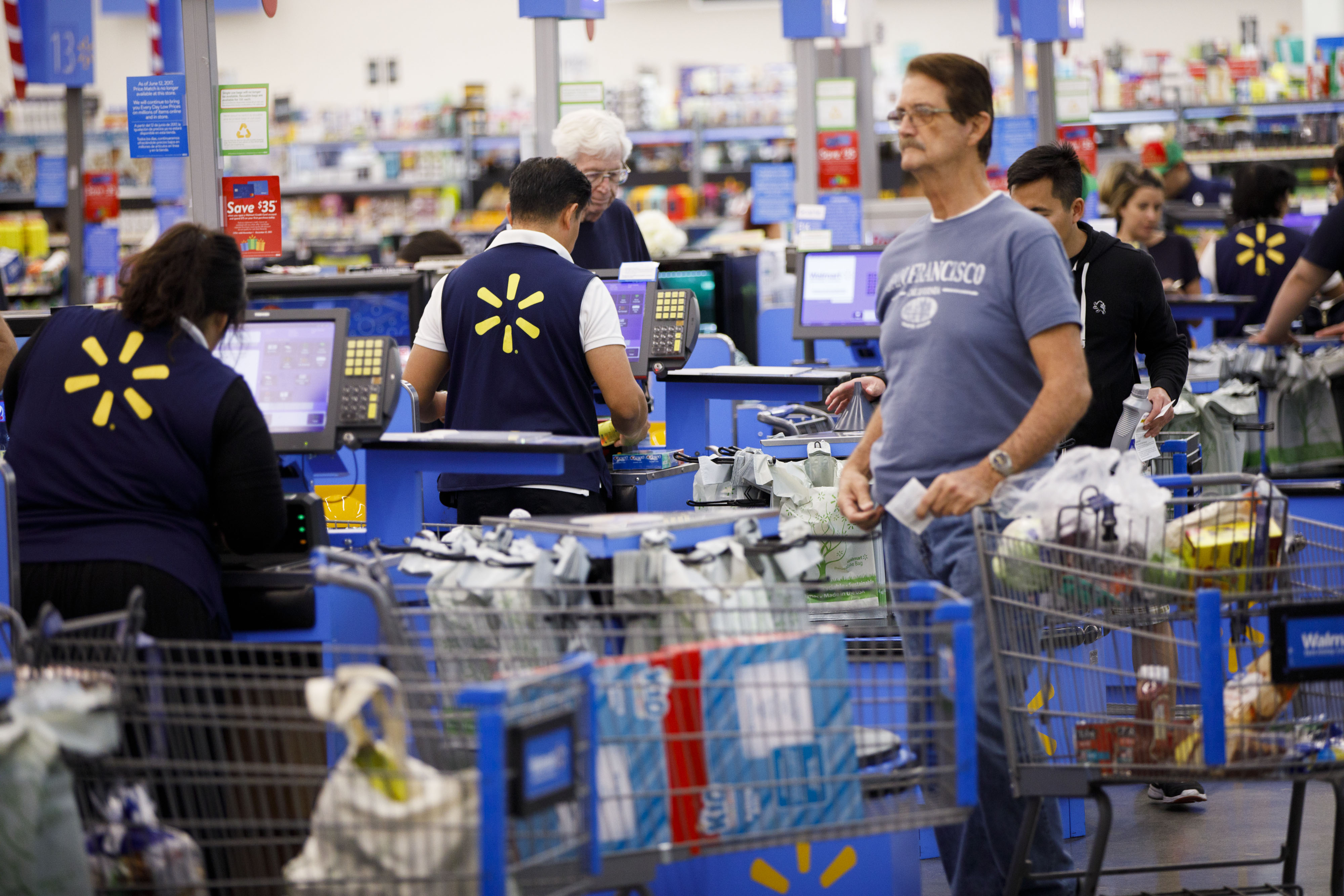 Inside A Wal-Mart Stores Inc. Location Ahead Of Black Friday