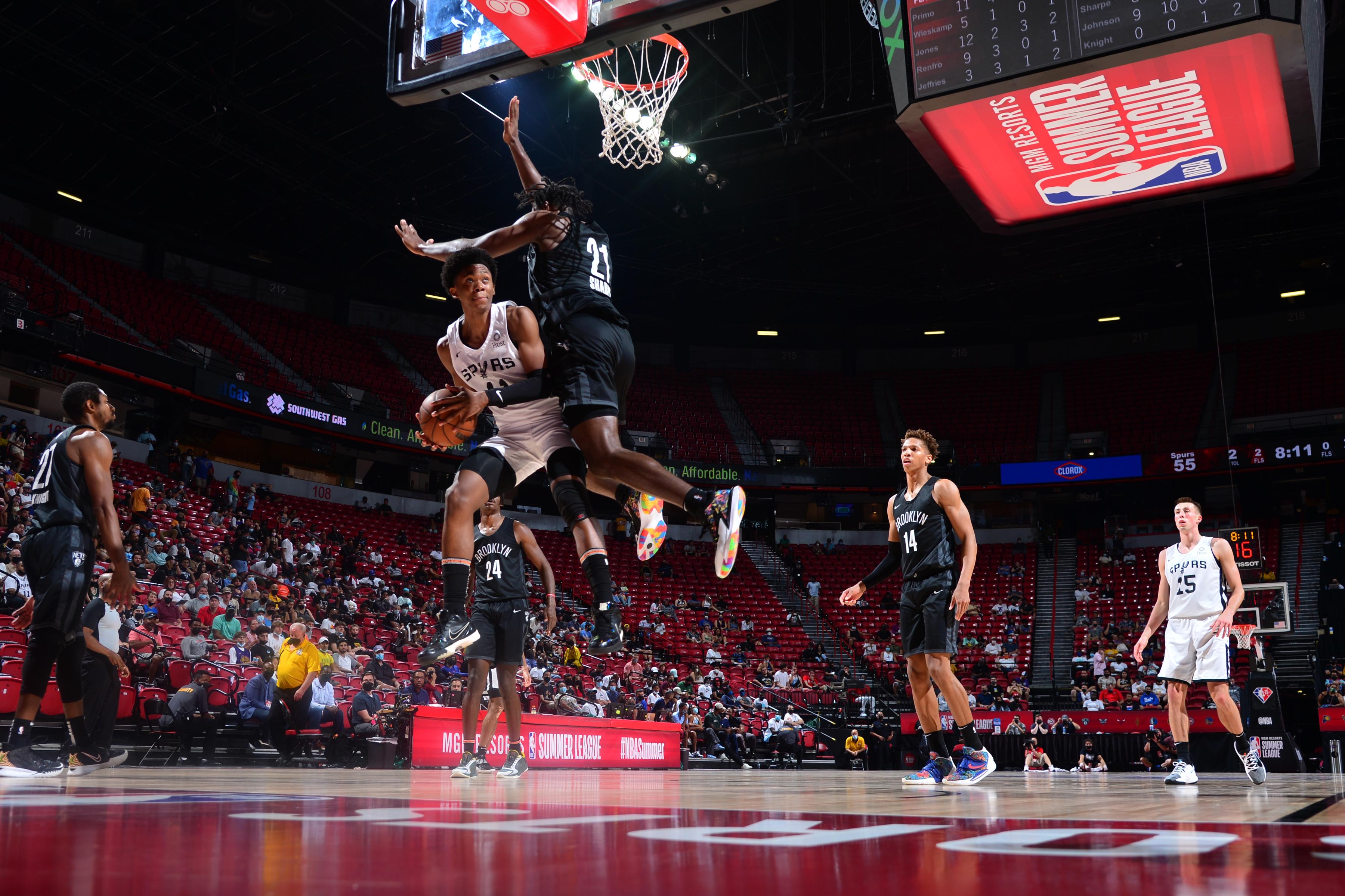 2021 Las Vegas Summer League - Brooklyn Nets v San Antonio Spurs