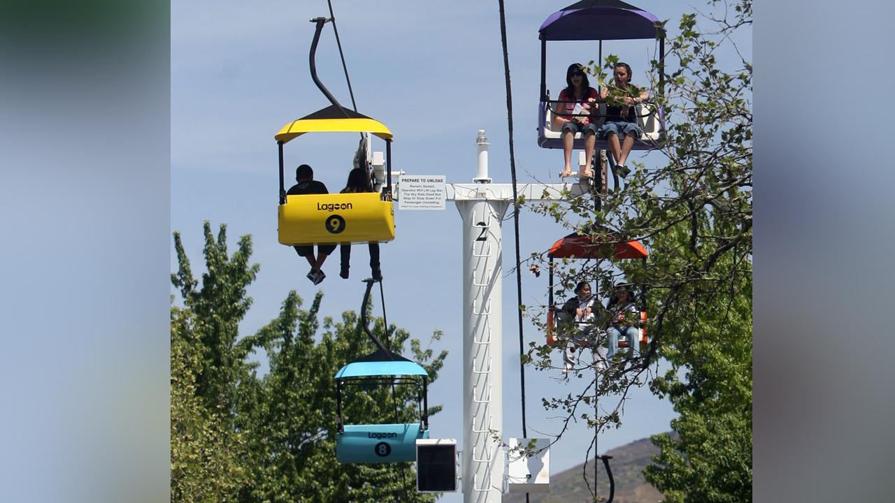 The Sky Ride at Lagoon in Farmington
