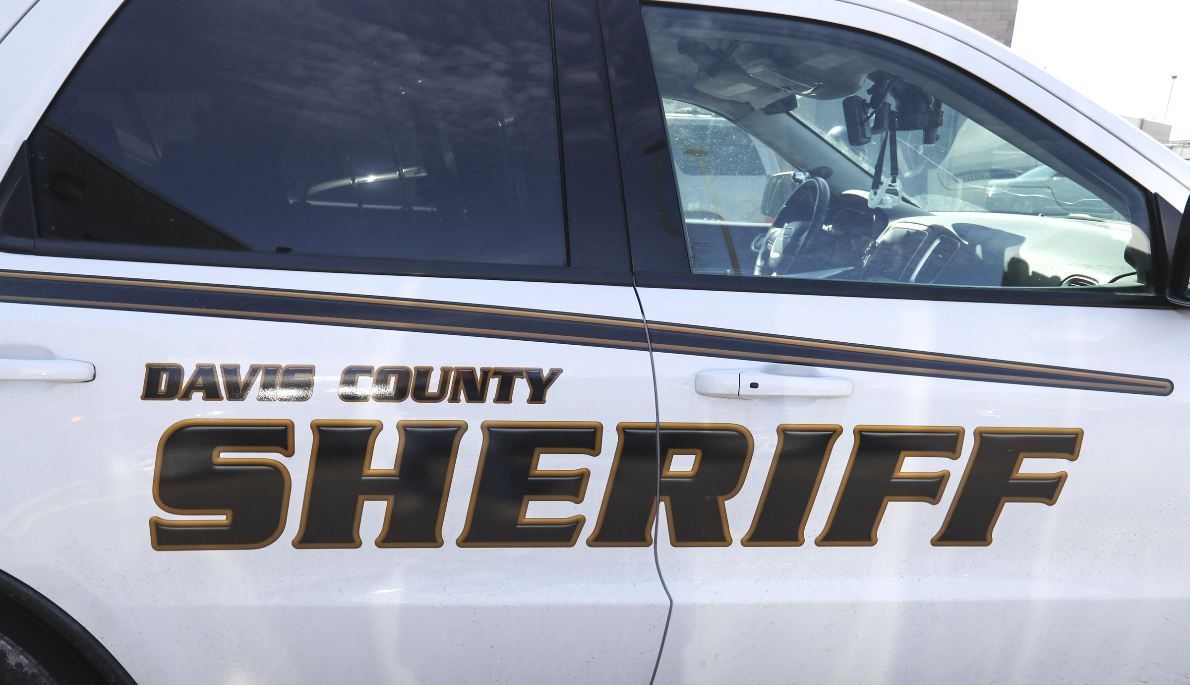 A Davis County Sheriff vehicle is pictured at the Davis County Jail in Farmington.