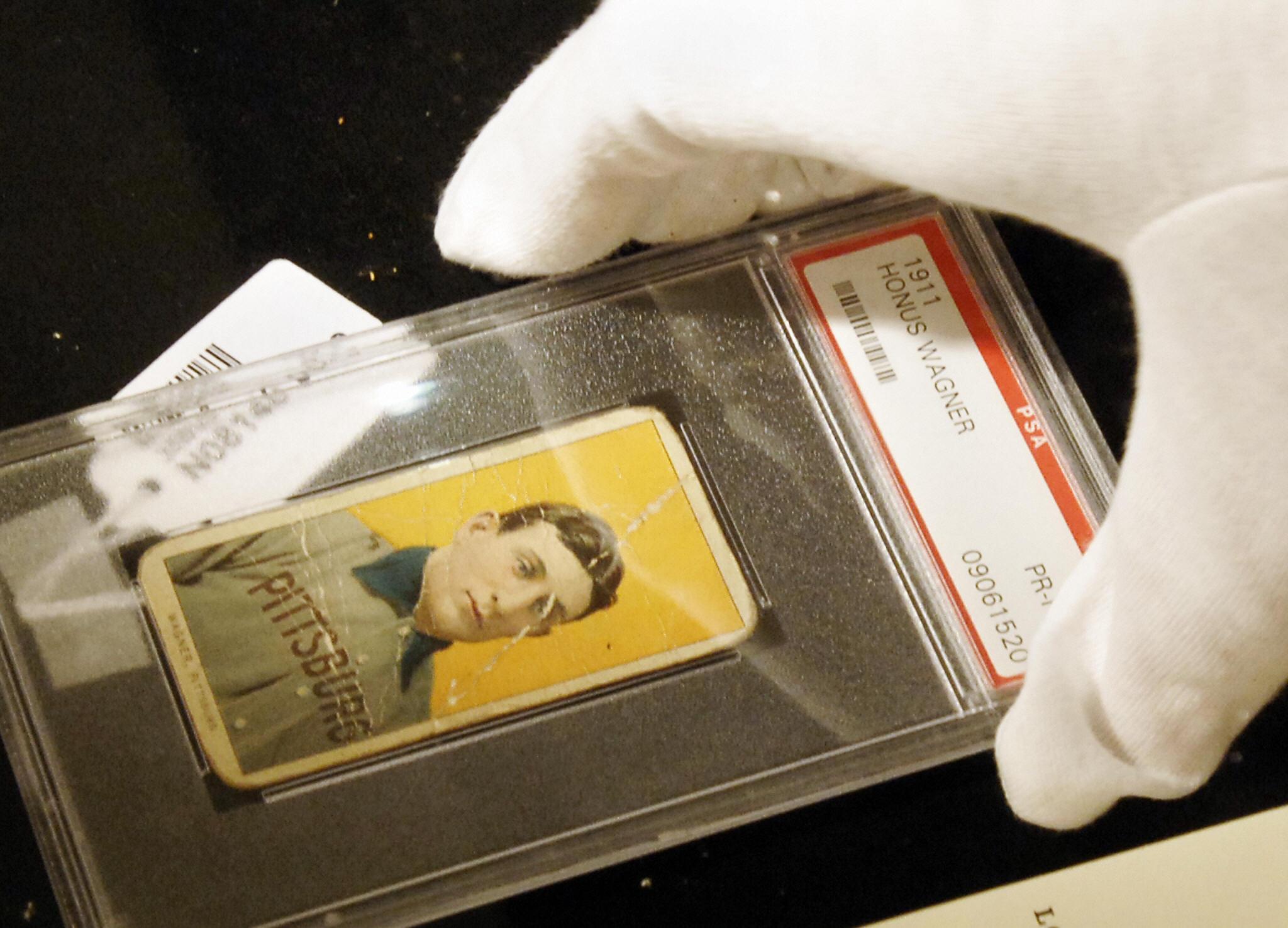 A rare baseball card of Honus Wagner of
