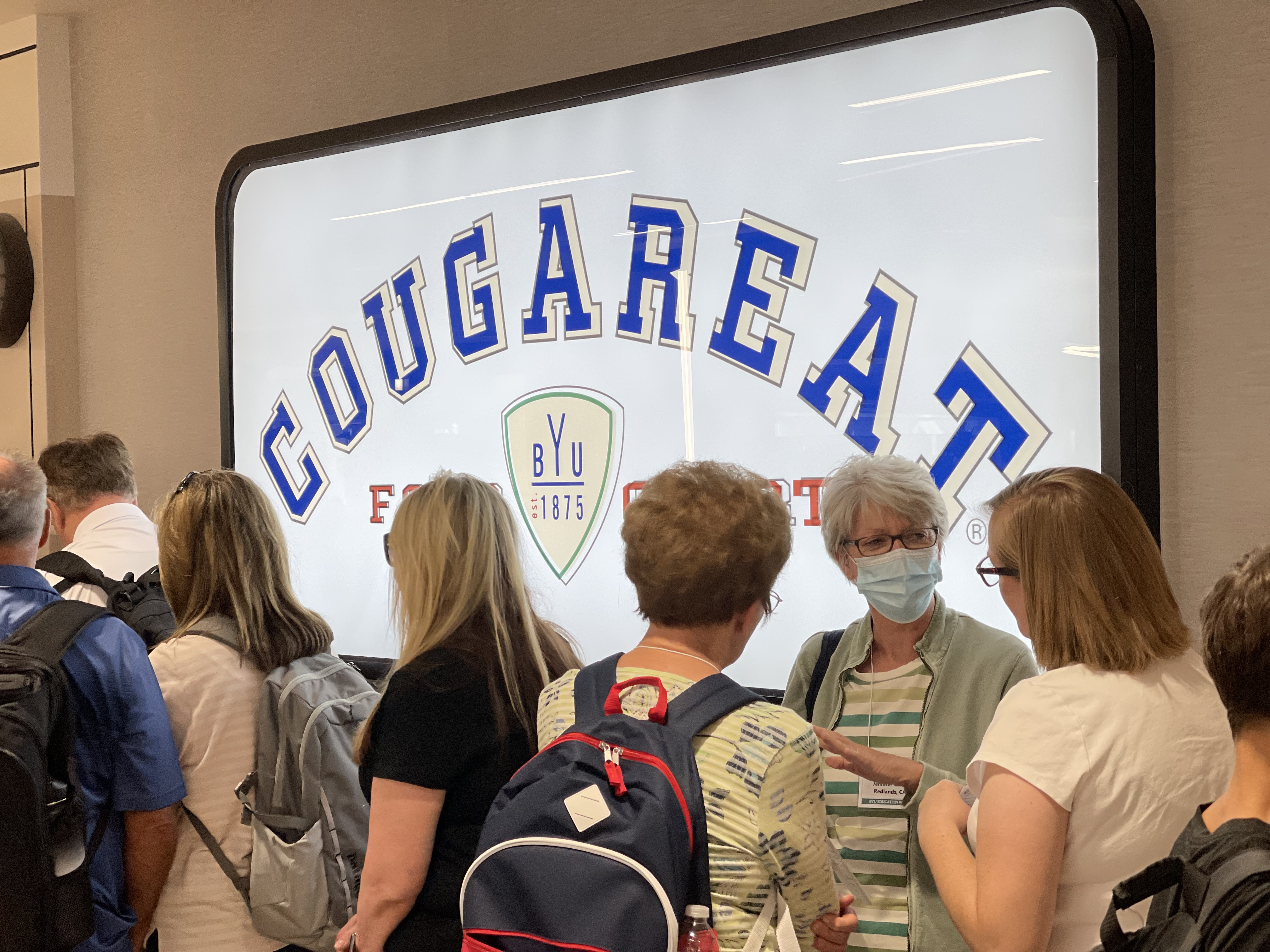Some people wore masks while attending Education Week at BYU on Monday, Aug. 16, 2021.