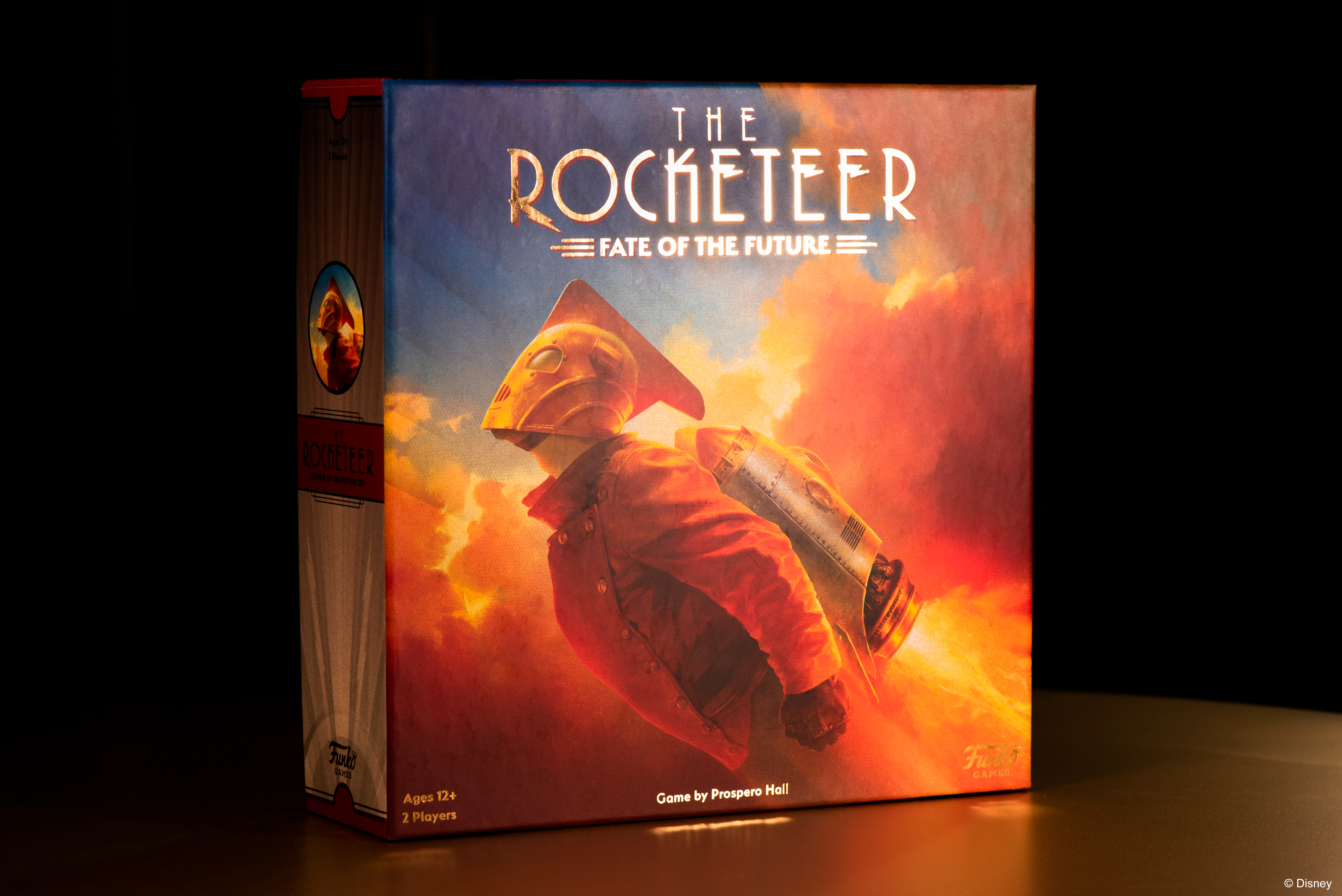 Cover art for The Rocketeer: Fate of the Future is gilded, and uses art from the movie poster.