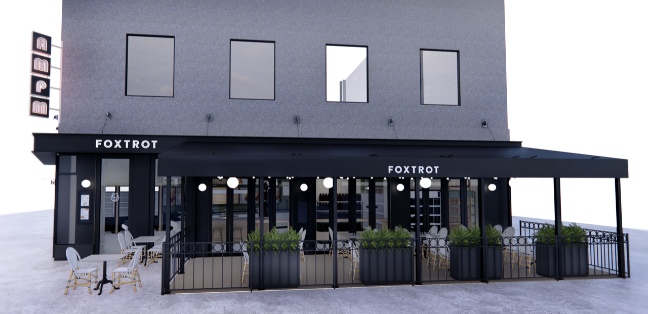 A rendering of Foxtrot in Dupont Circle