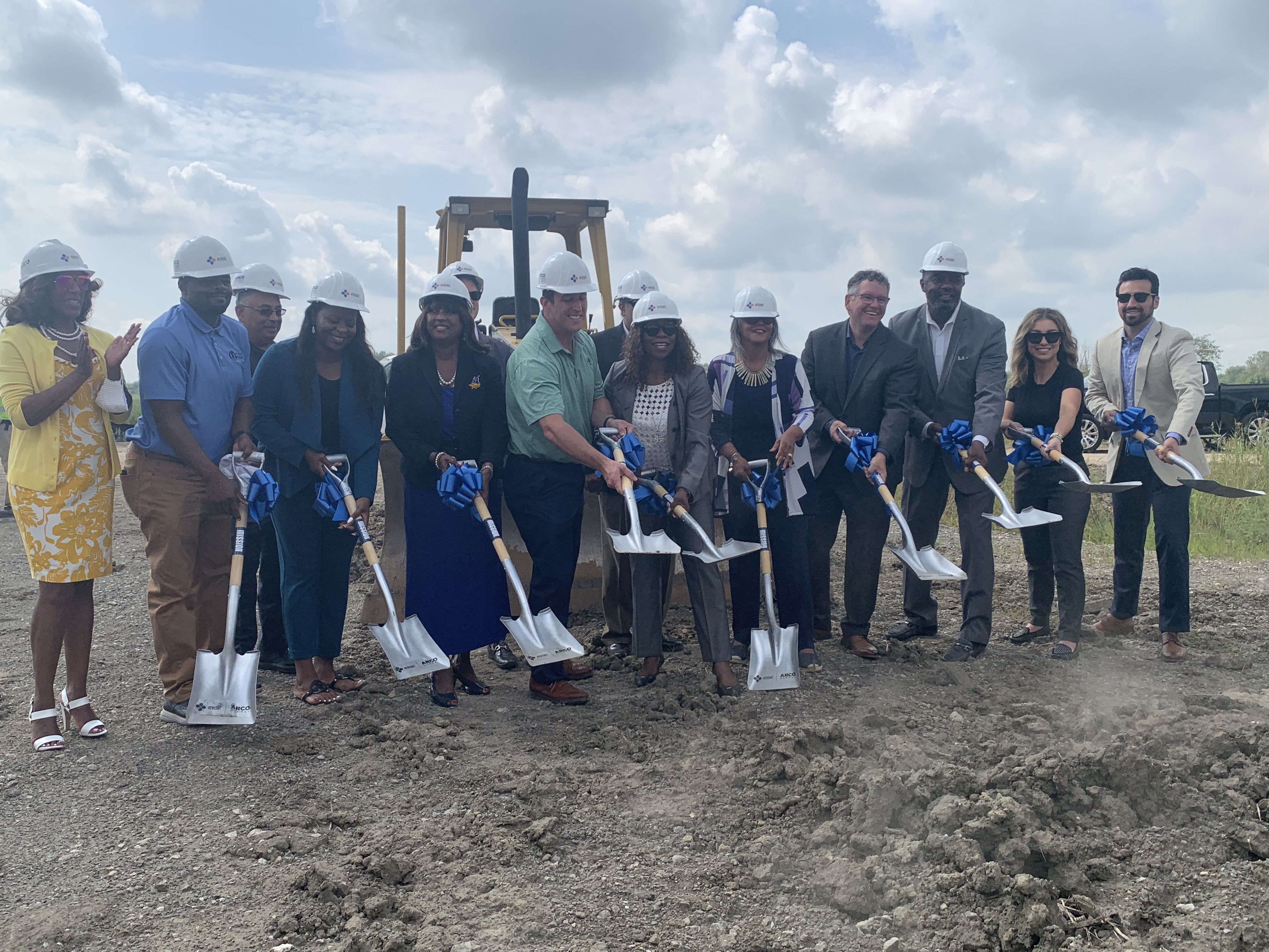 Elected officials and executives from 4Front Ventures broke ground Tuesday, Aug. 17, 2021 on the company's new cannabis cultivation center in Matteson.