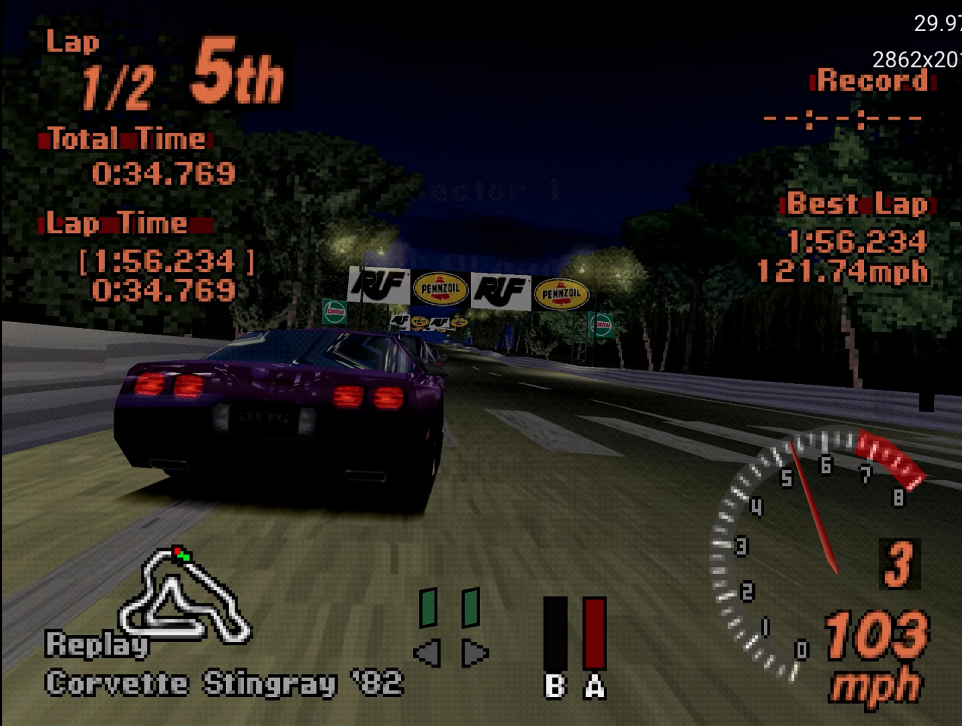 Gran Turismo running in 4K on Xbox Series S via the Duckstation emulator