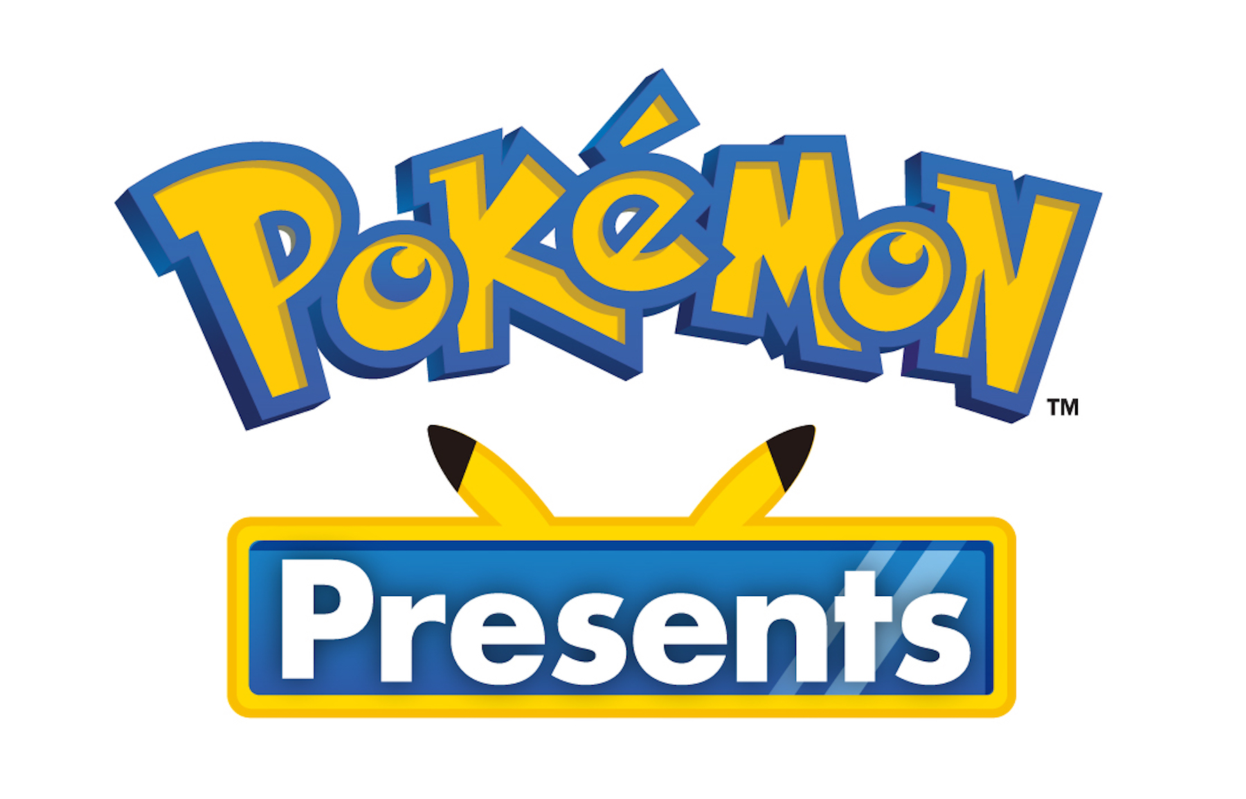 Title logo for Pokémon Presents on a white background