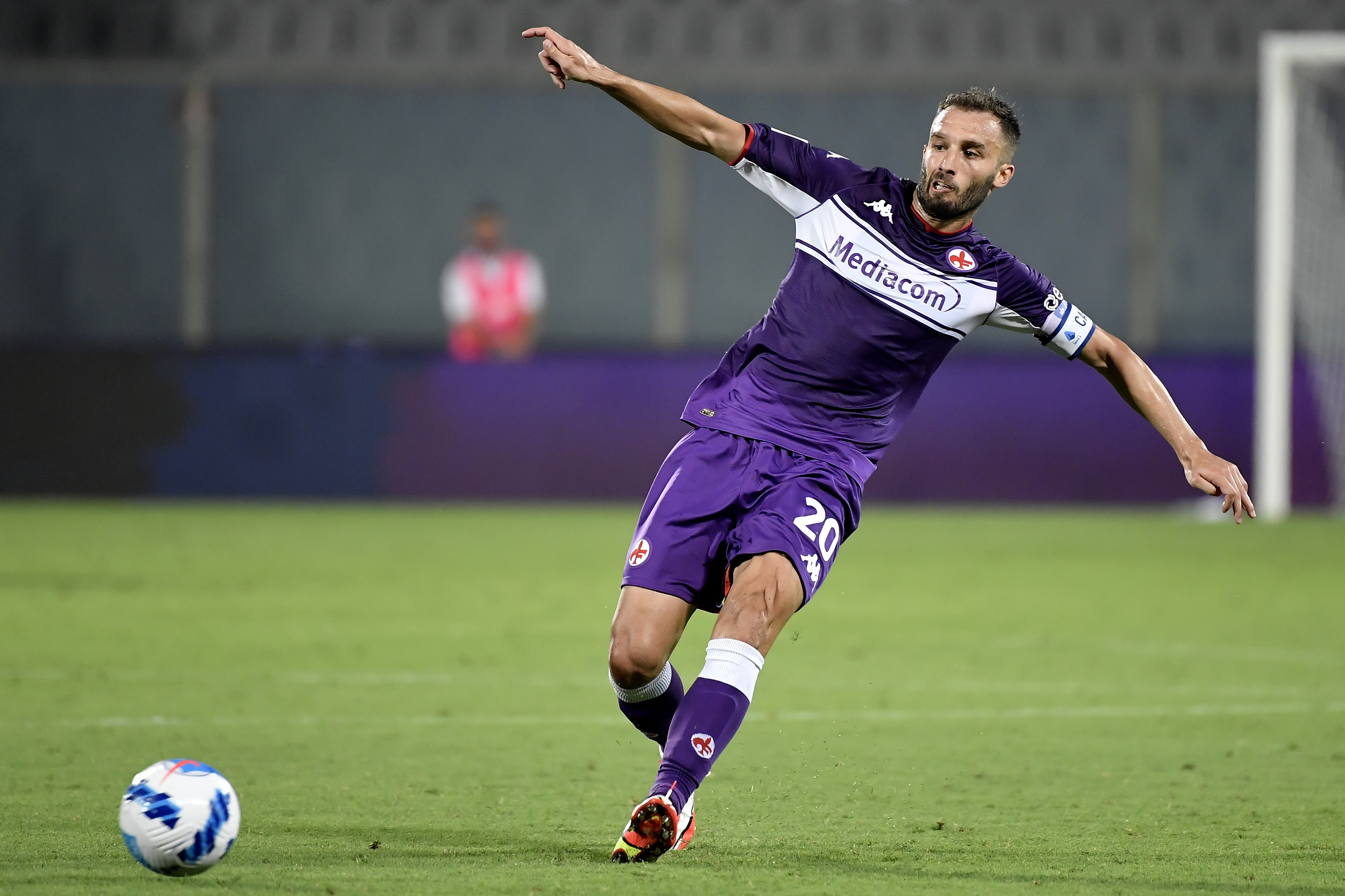German Pezzella of ACF Fiorentina in action during the Italy...