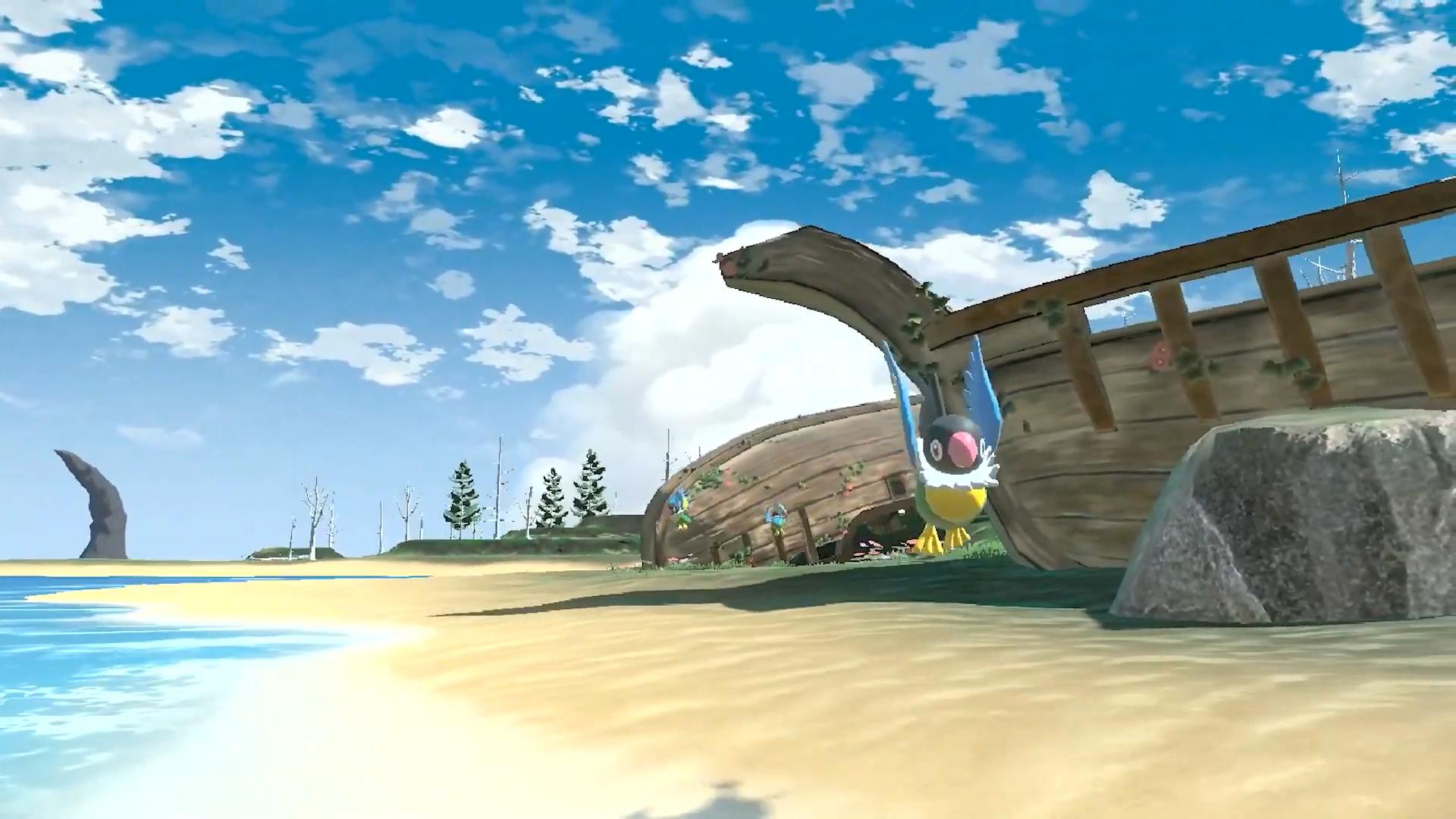 pokemon on the beach