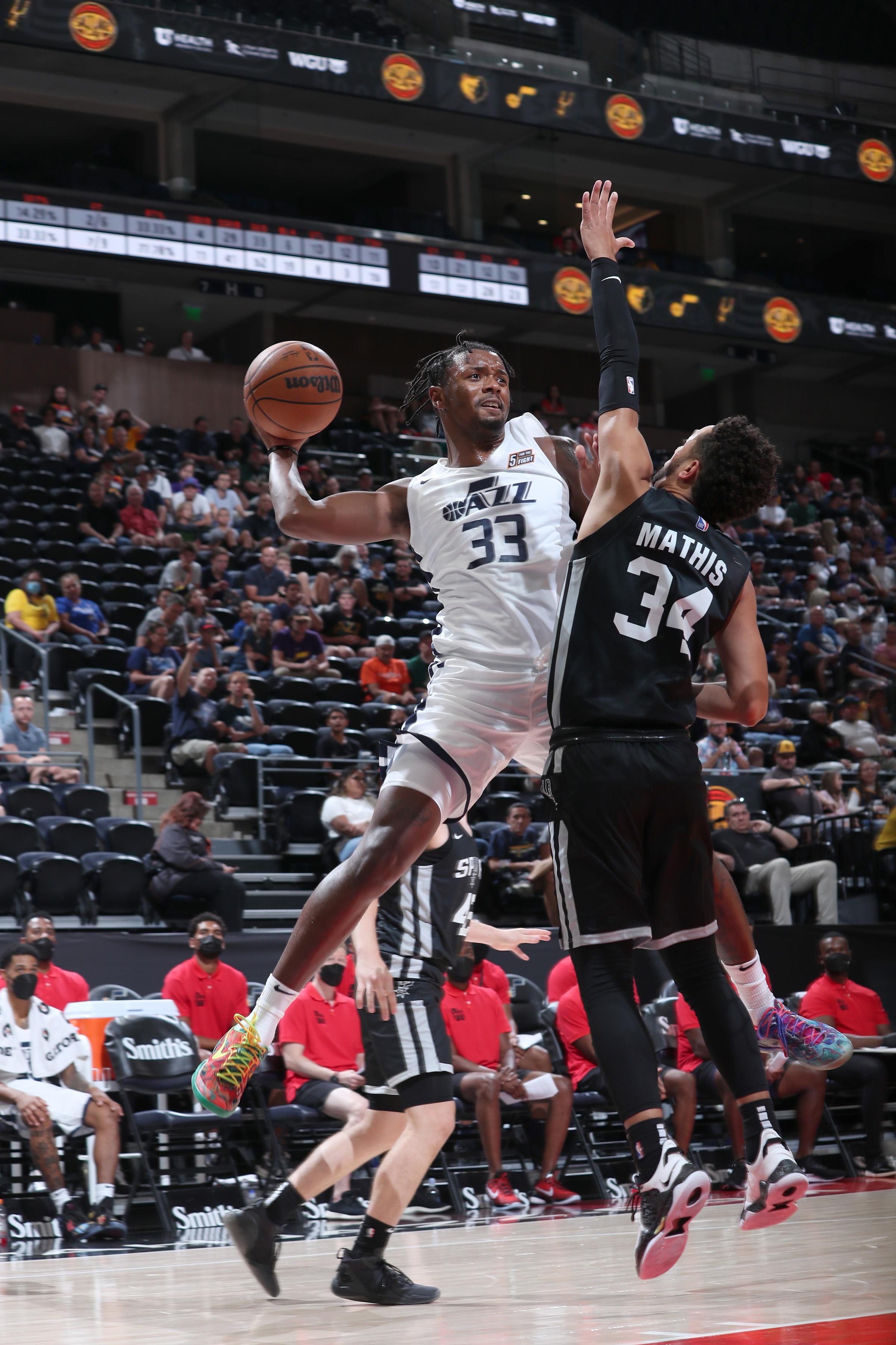 2021 Salt Lake City Summer League: San Antonio Spurs v Utah Jazz White
