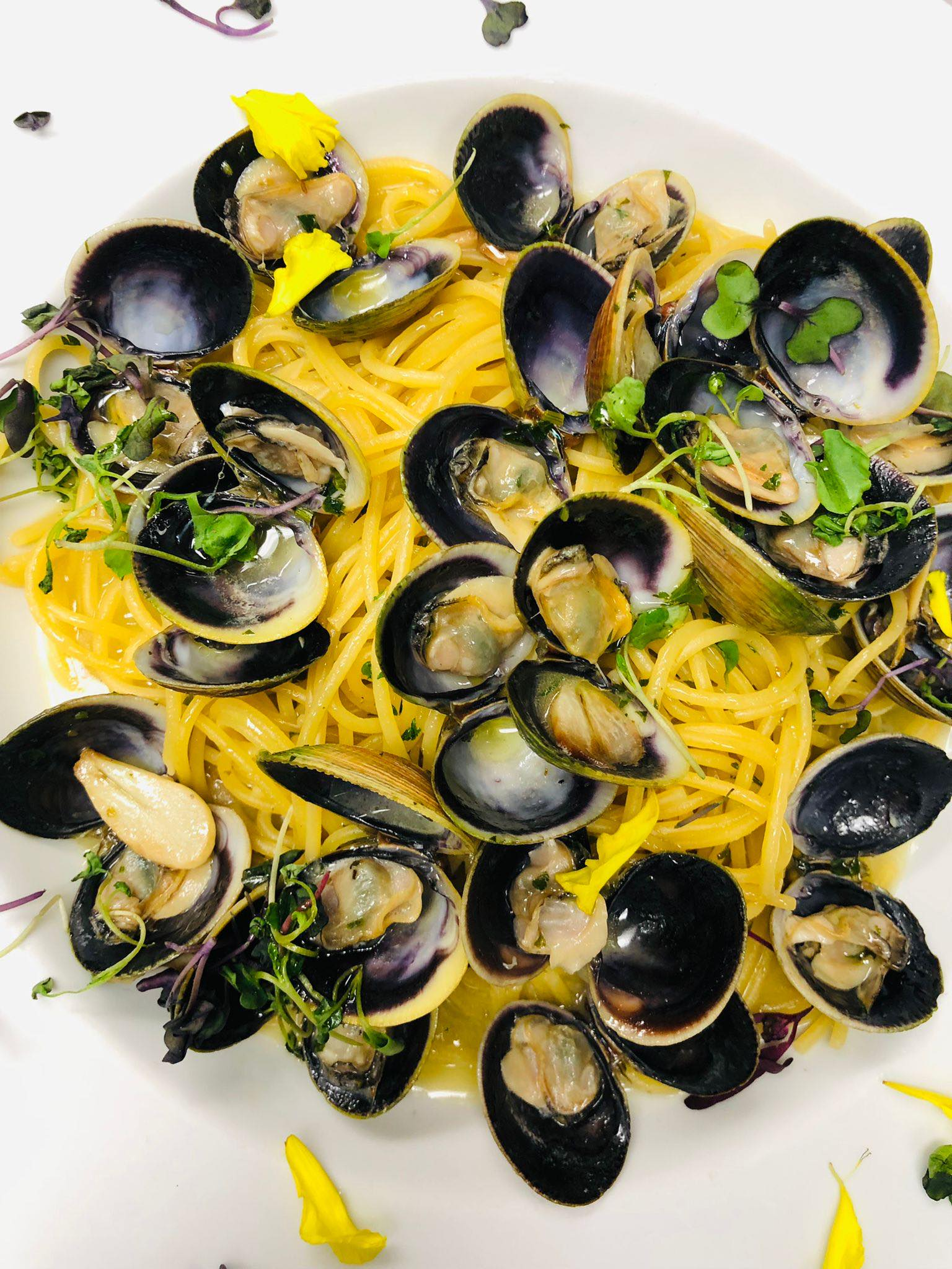 Clams and spaghetti, part of the menu at Town Square's new Milano Restaurant & Bar.