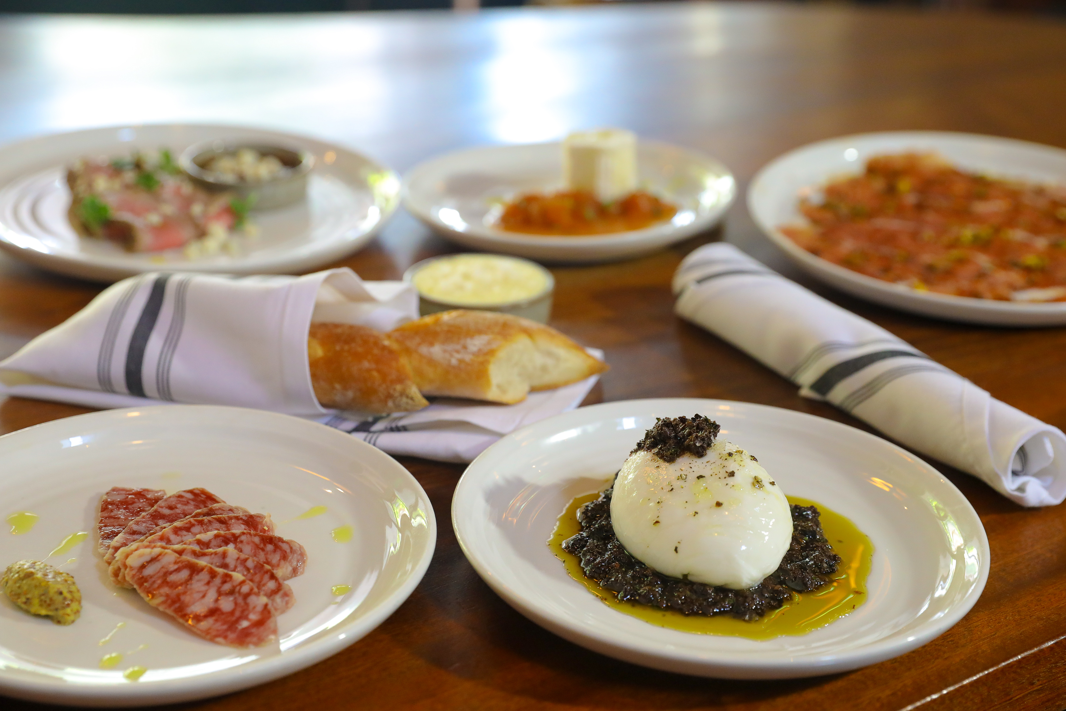 A selection of food from Chezchez, the new bar and restaurant from BV Hospitality