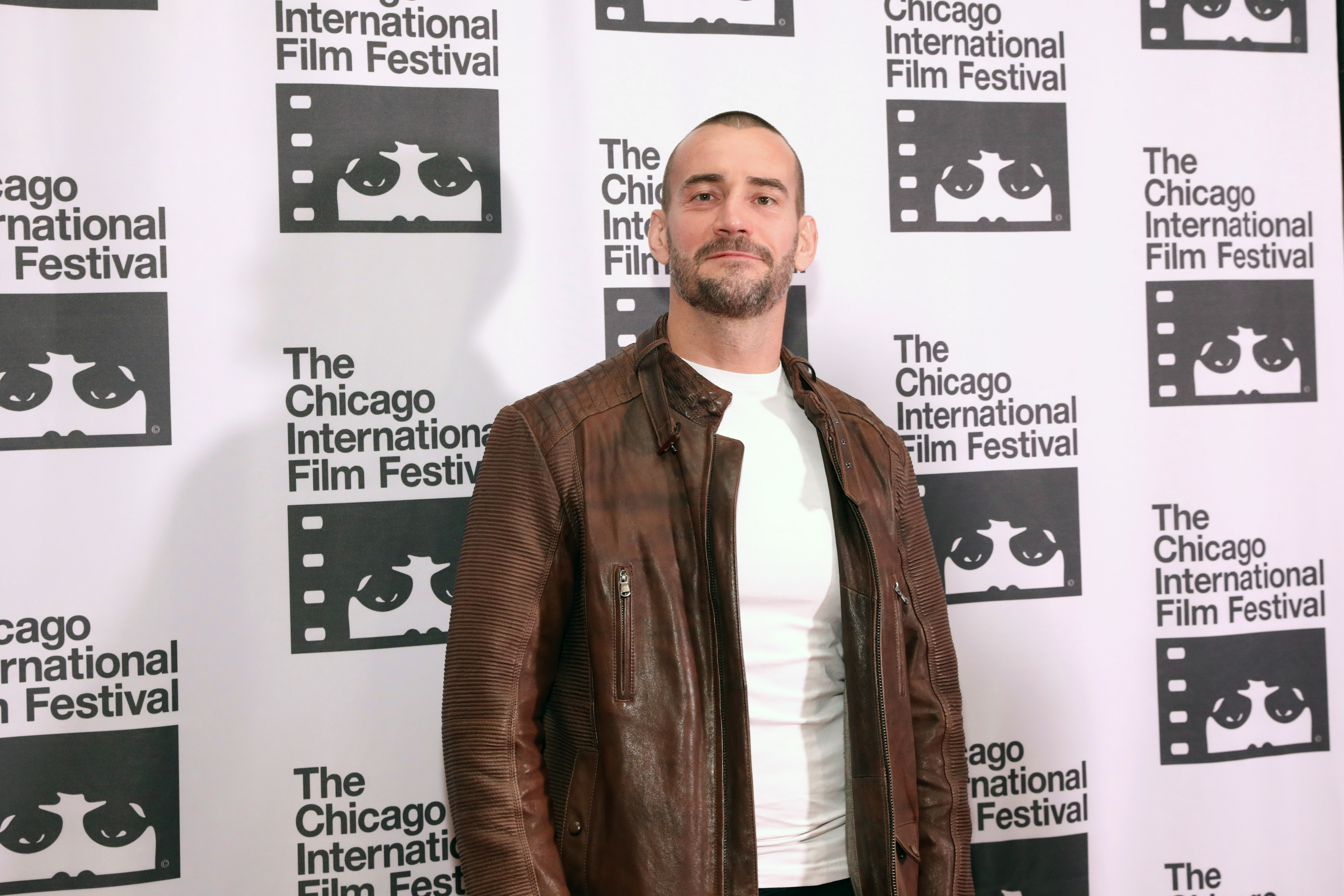 """Actor Phil 'CM Punk' Brooks attends the red carpet Premiere of """"Girl on the Third Floor"""" at the Chicago International Film Festival on October 18, 2019 in Chicago, Illinois."""