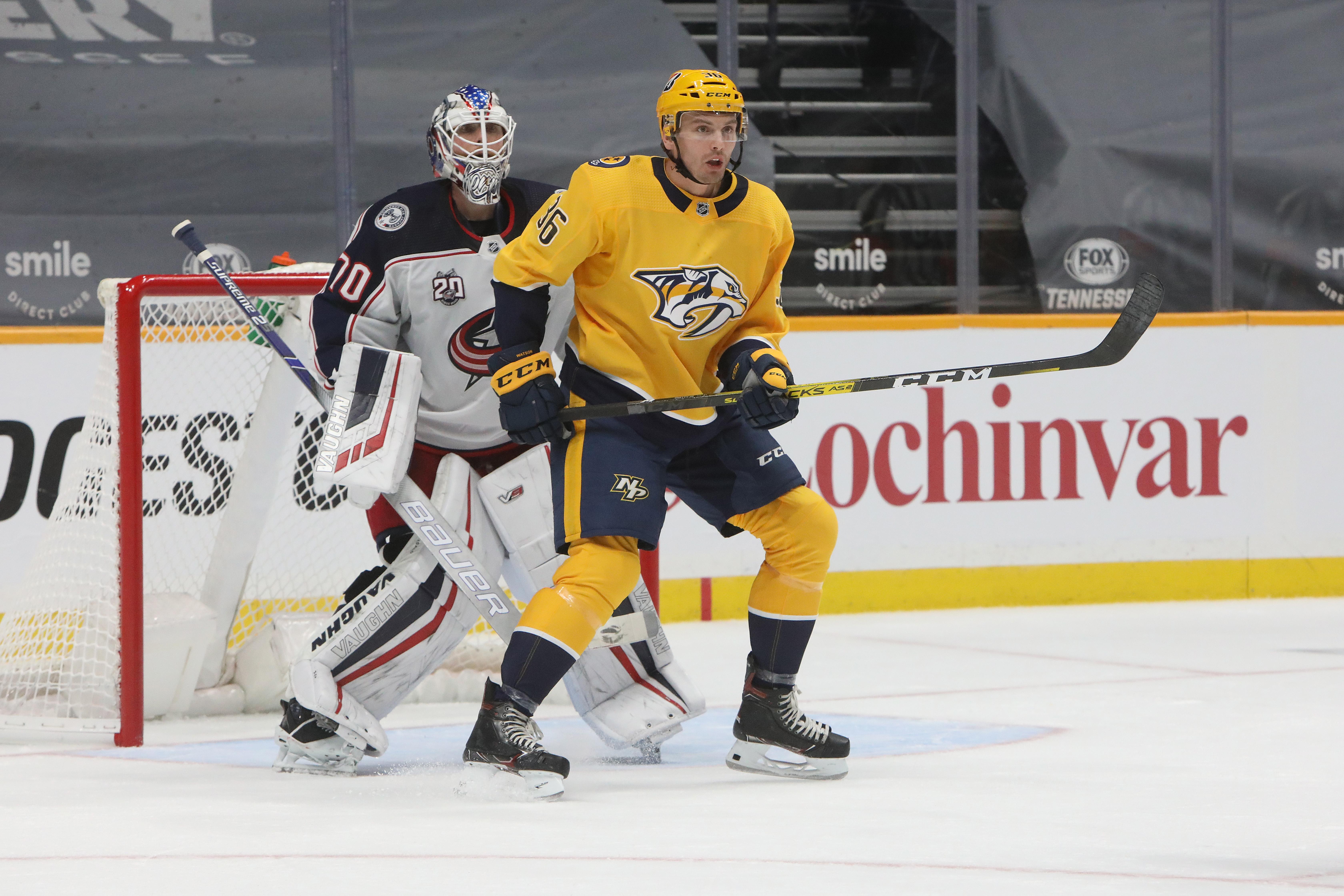 NHL: JAN 14 Blue Jackets at Predators
