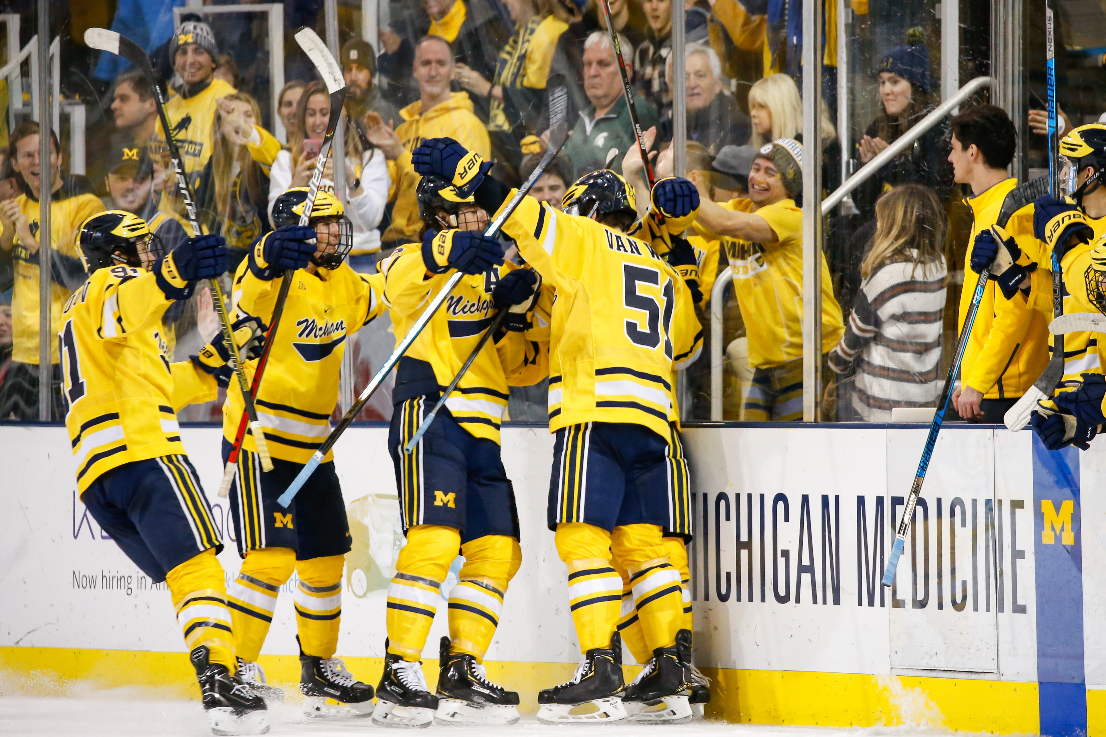 COLLEGE HOCKEY: NOV 14 Michigan State at Michigan