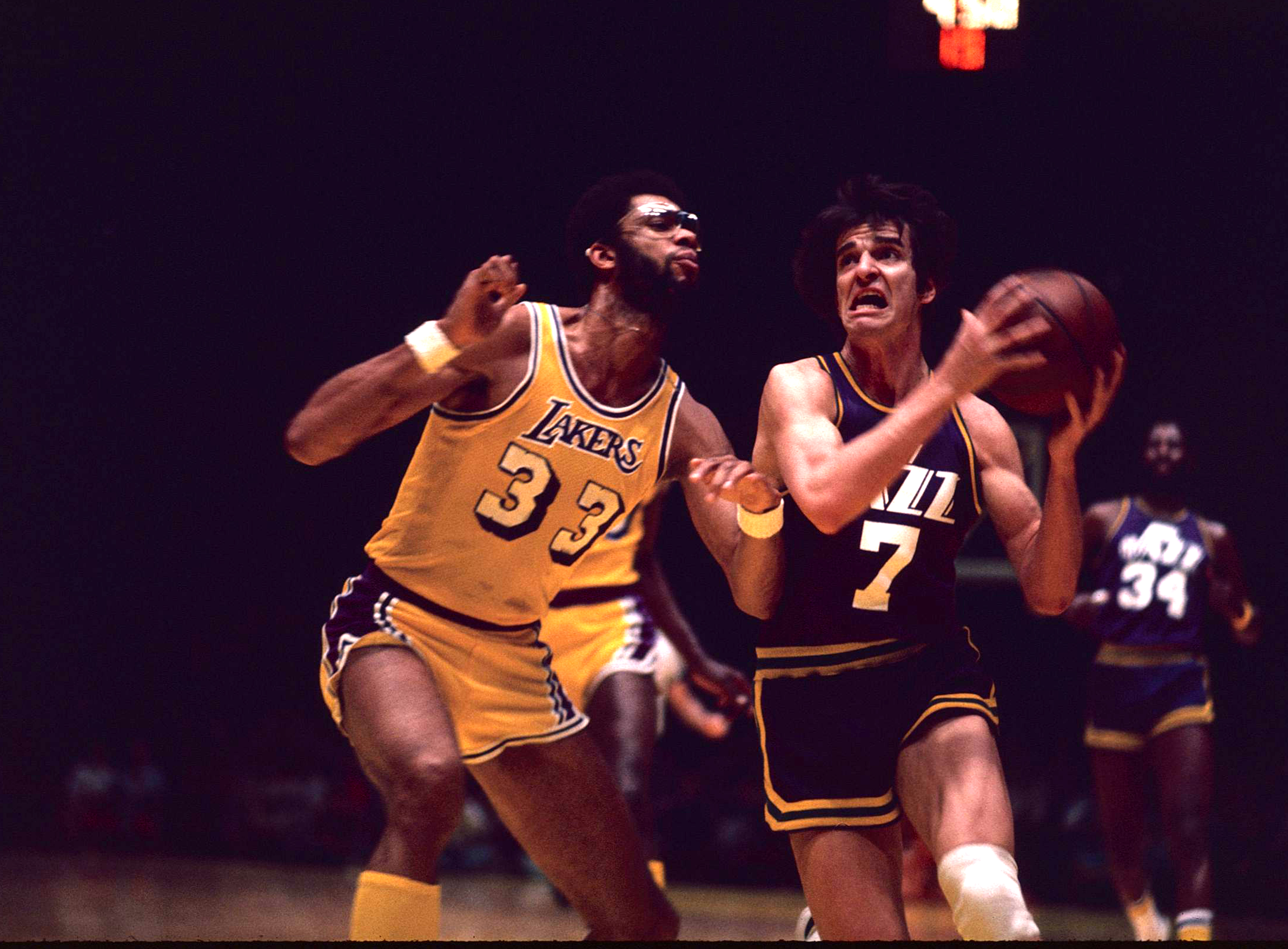 """""""Pistol"""" Pete Maravich, Guard of the New Orleans Jazz"""