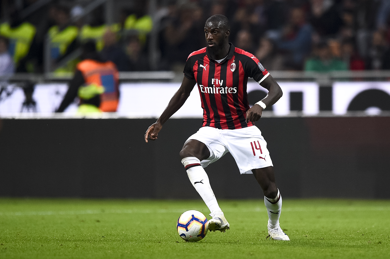 Tiemoue Bakayoko of AC Milan in action during the Coppa...