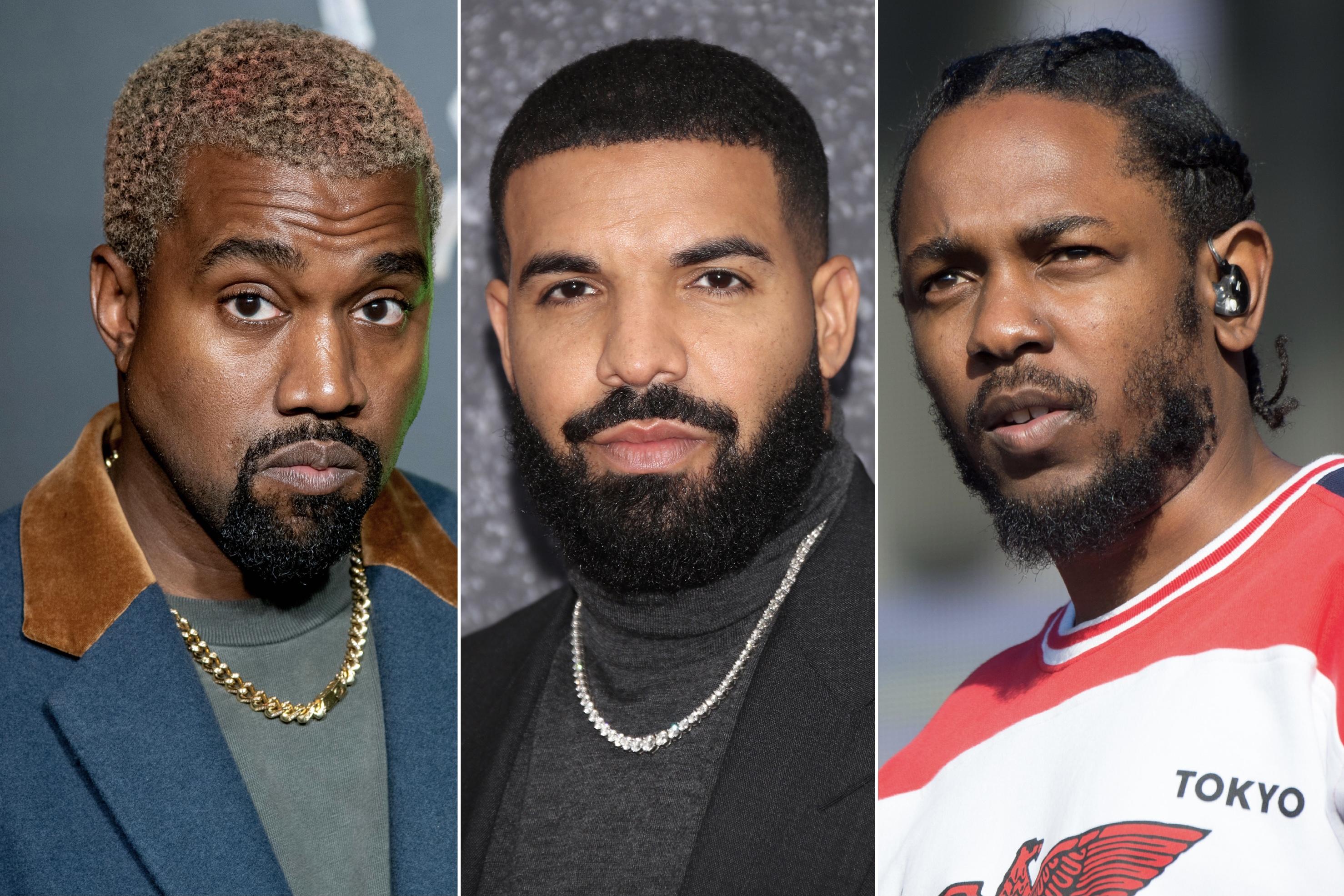 Kanye West, Drake, Kendrick Lamar