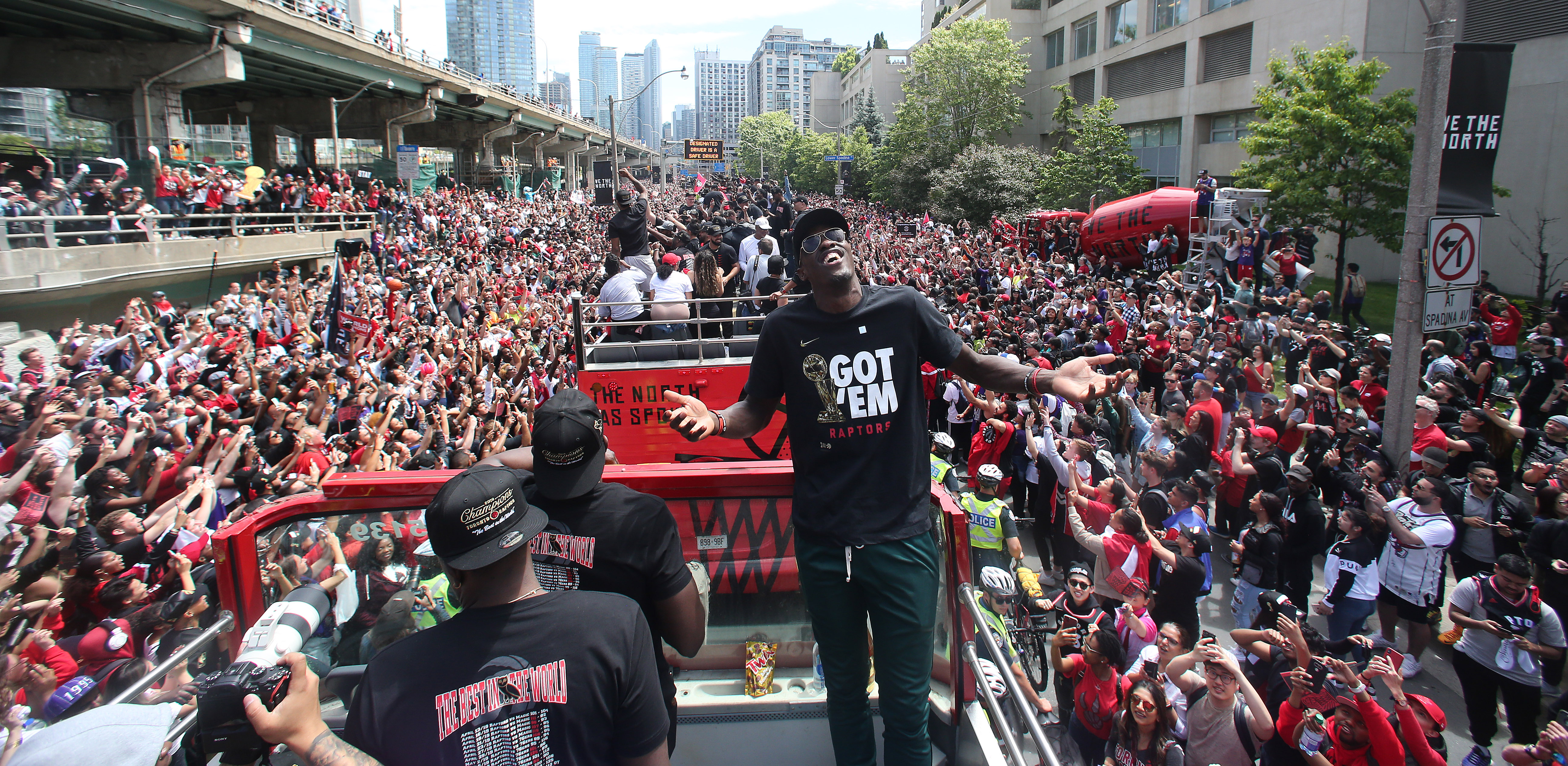 Toronto Raptors hold their victory parade after beating the Golden State Warriors in the NBA Finals