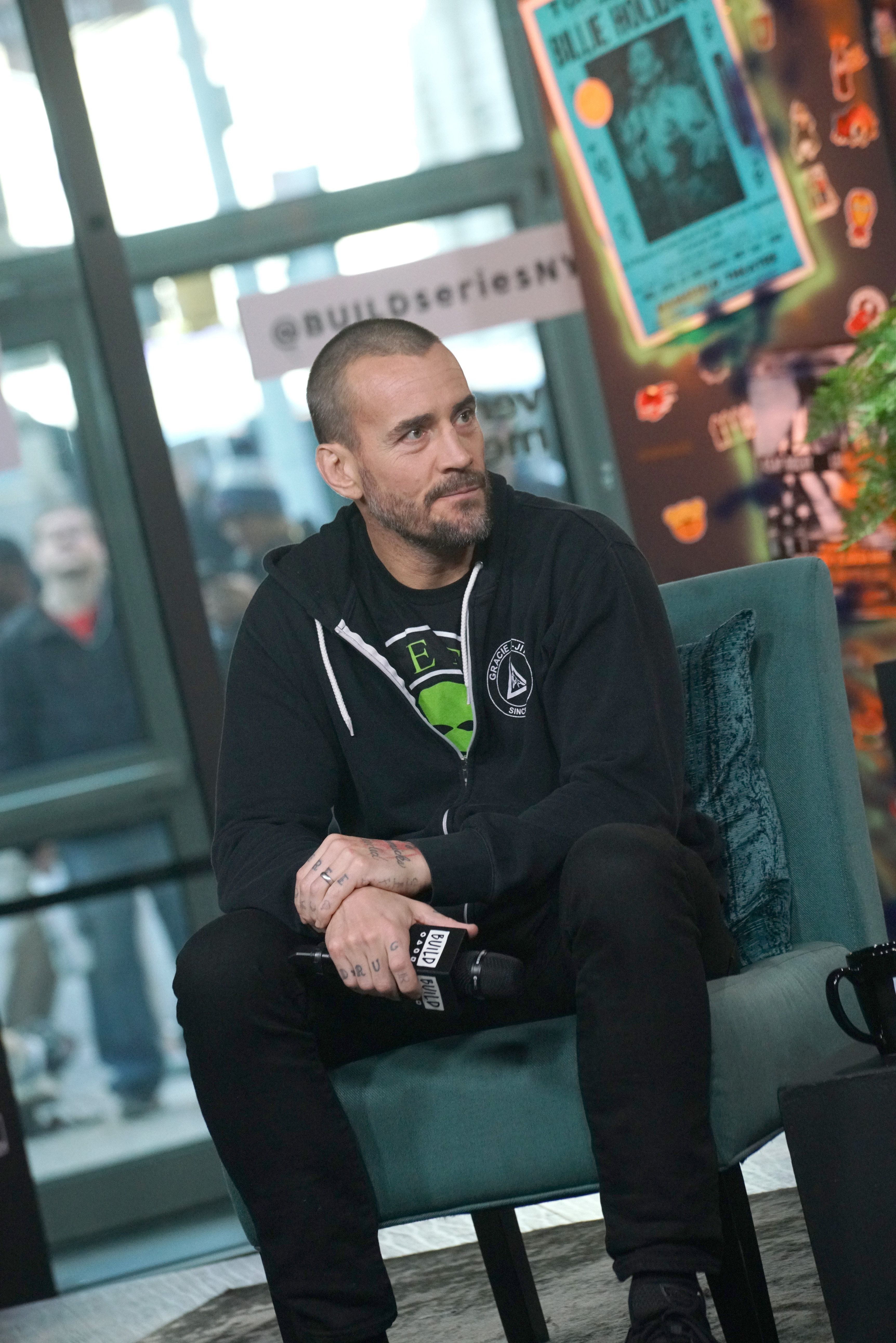 """Phil """"CM Punk"""" Brooks attends Build Series to discuss the film """"Girl on the Third Floor"""" at Build Studio on October 23, 2019 in New York City."""