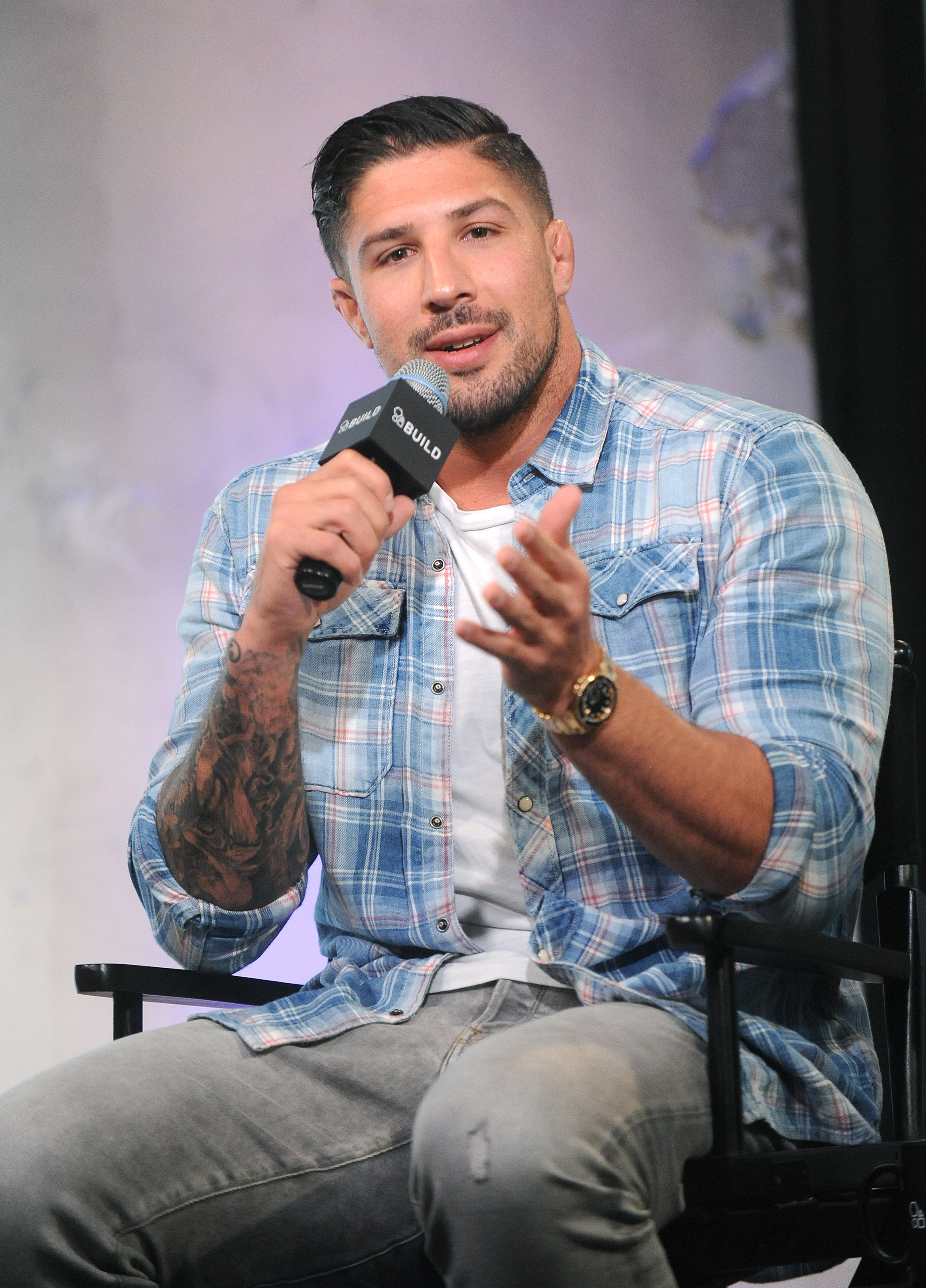 """Bryan Callen & former UFC Fighter Brendan Schaub Discuss """"The Fighter and The Kid Live"""" At AOL Build"""