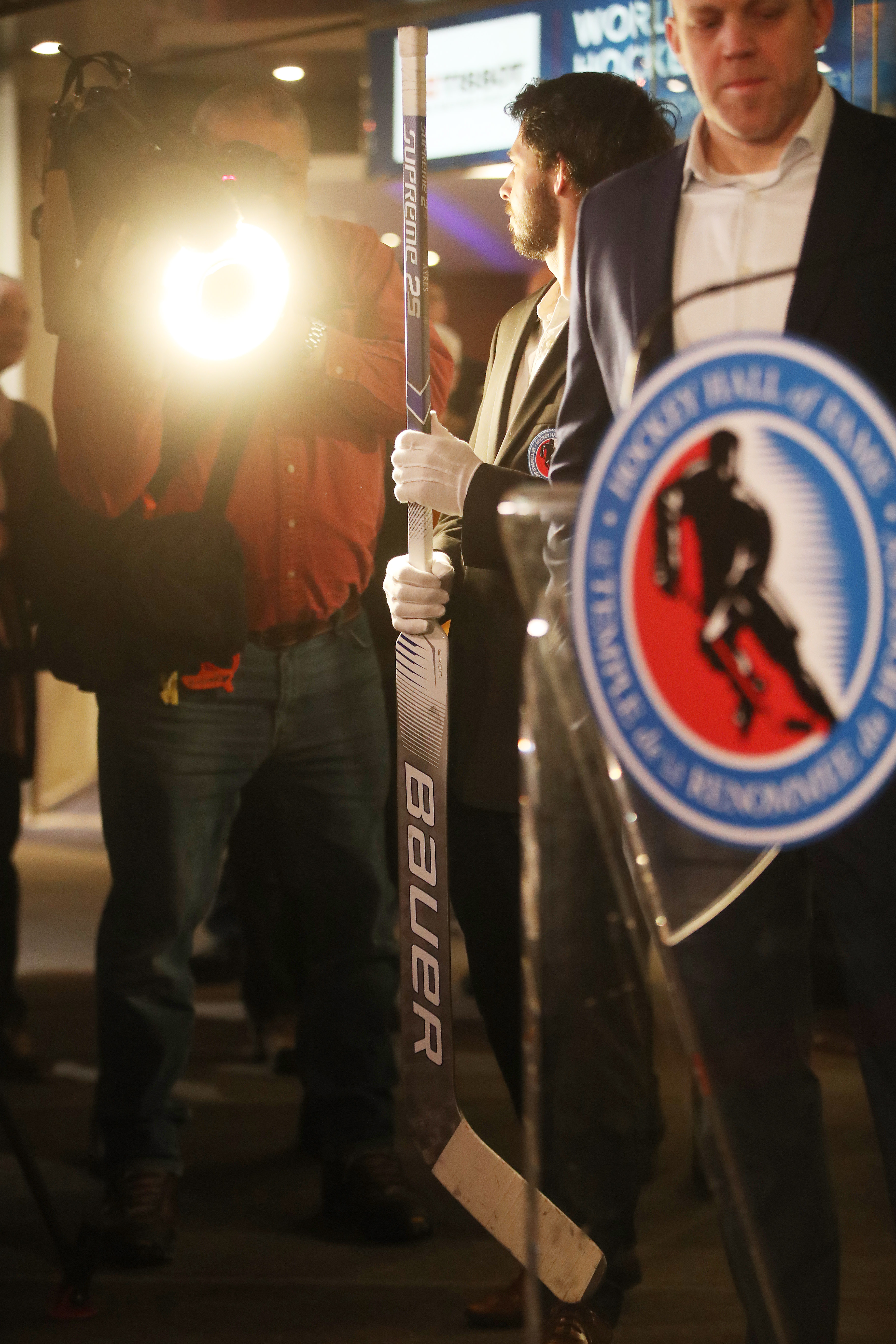 Hockey Hall of Fame added to their collection the stick used last week by David Ayres, the Zamboni driver and the Operations Manager at Mattamy Athletic Centre who became a hockey and internet sensation when he became the first emergency backup goalie to w