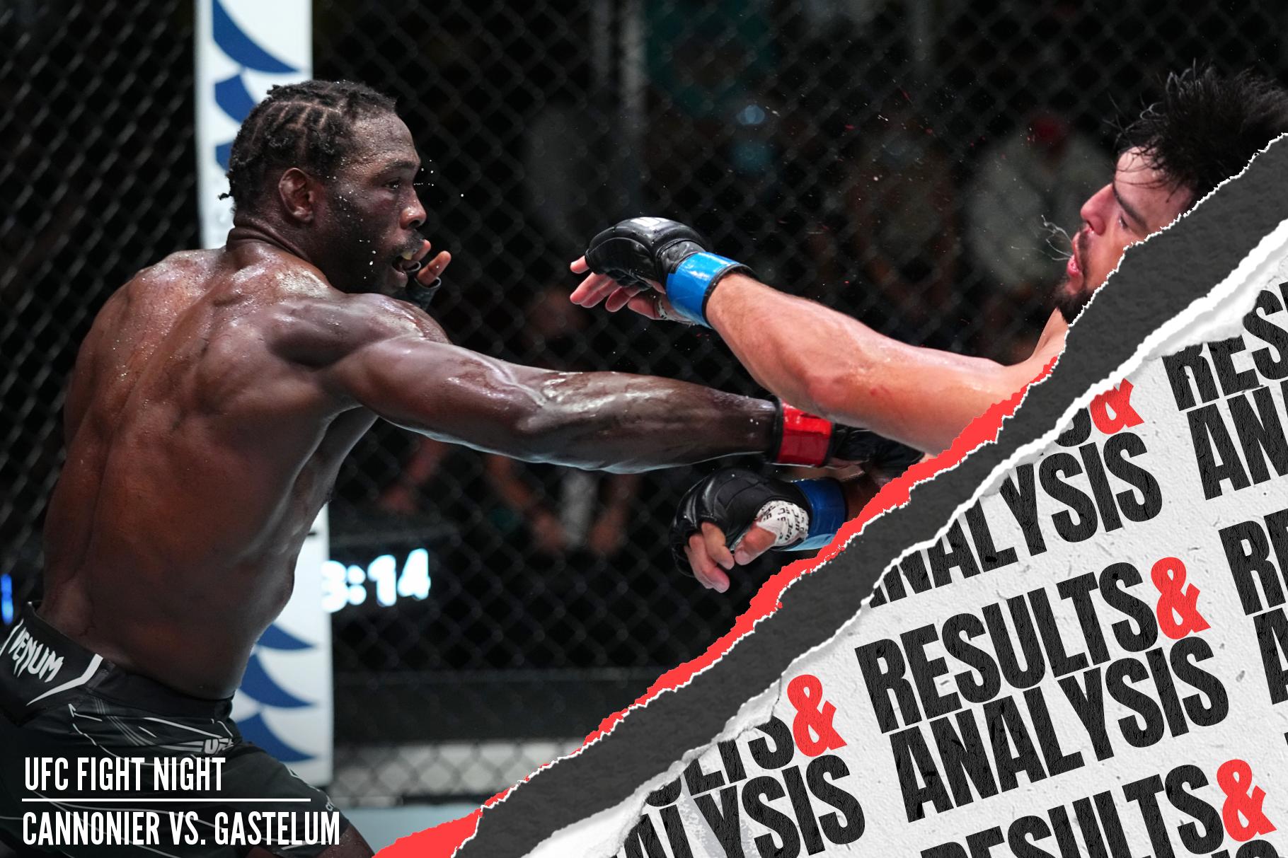Jared Cannonier got the win over Kelvin Gastelum at UFC Vegas 34.