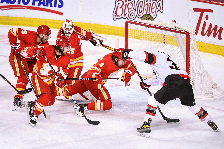 NHL: MAR 07 Senators at Flames