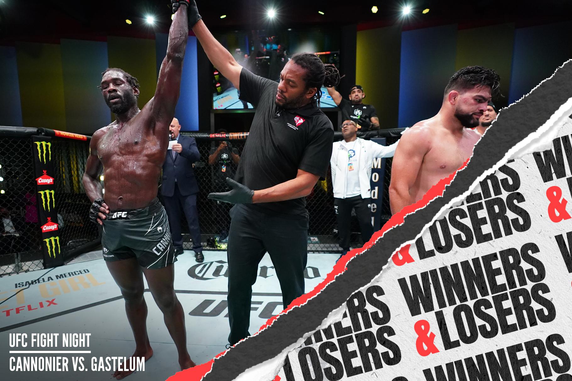 Jared Cannonier beat Kelvin Gastelum by decision at UFC Vegas 34.