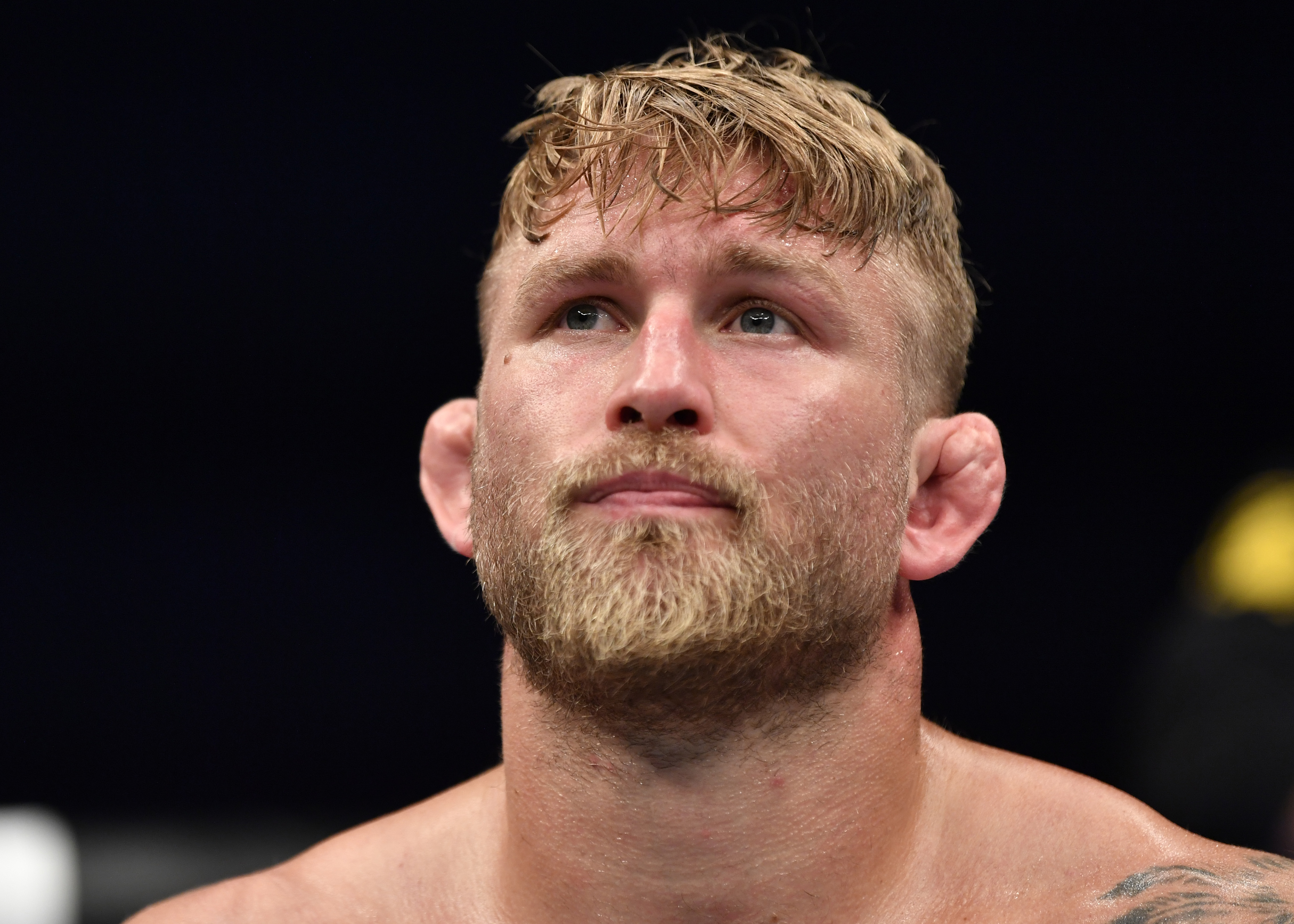 Alexander Gustafsson reacts to his 2020 loss to Fabricio Werdum.