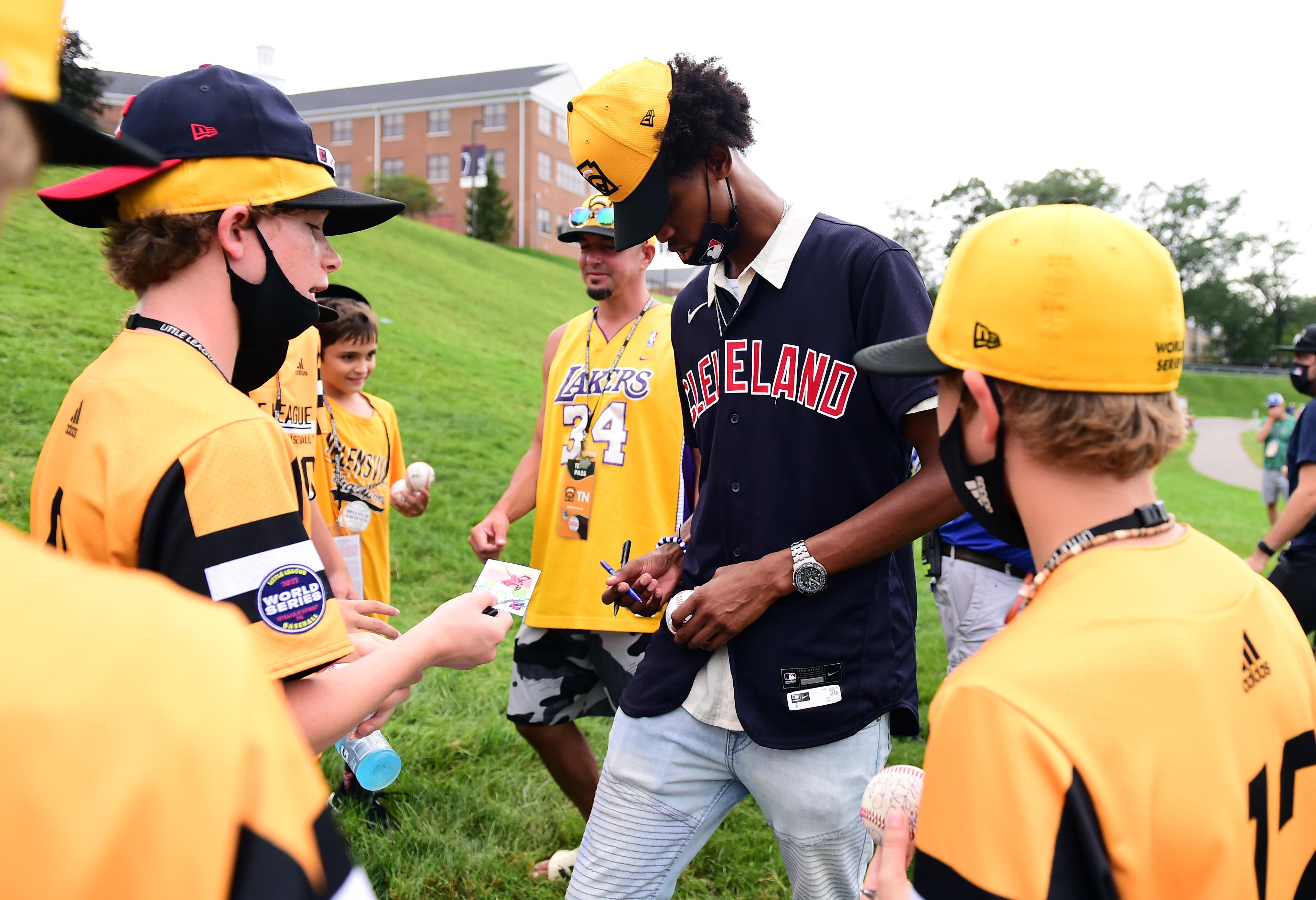 Baseball: Little League World Series-MLB Players Visit