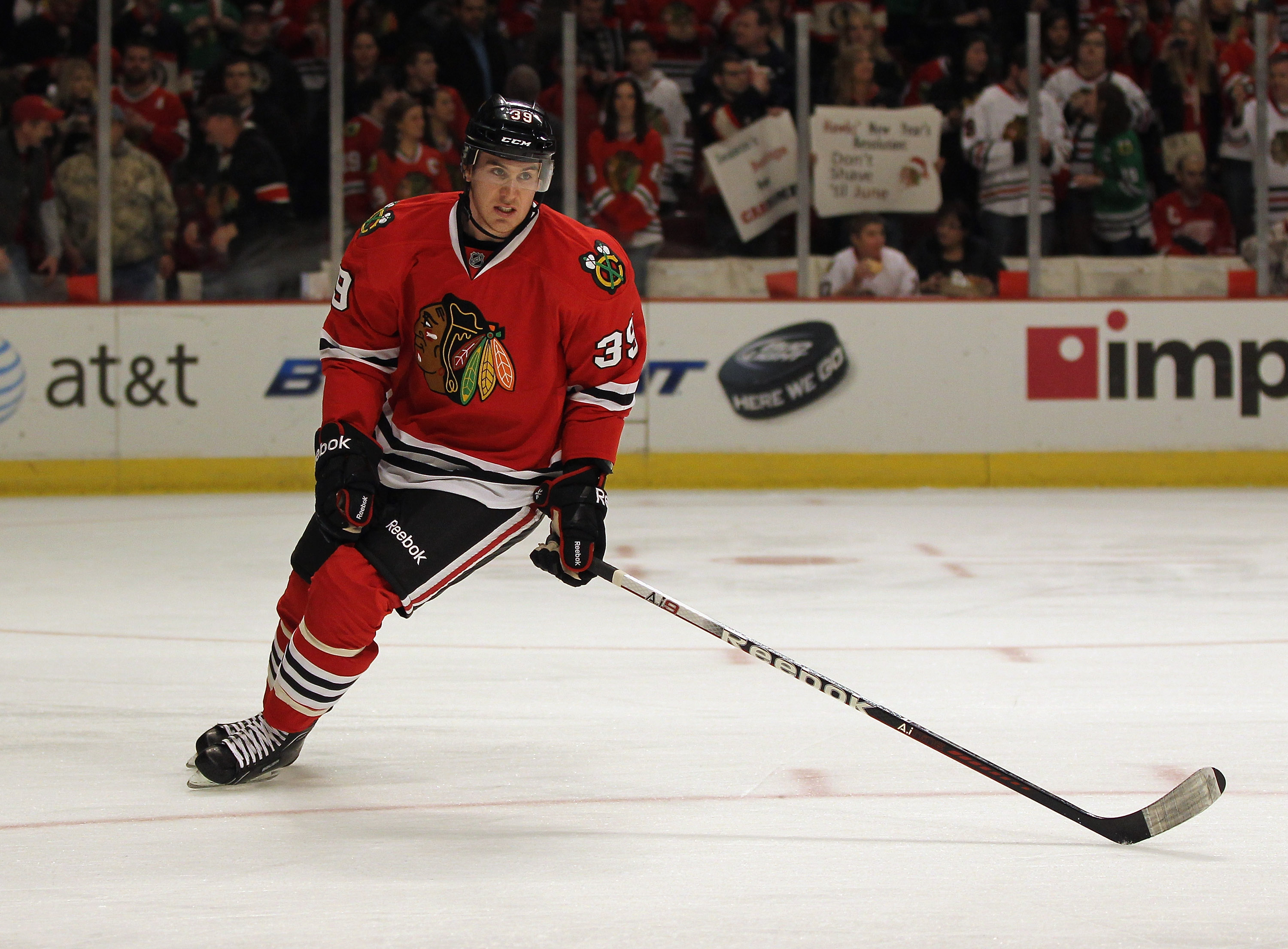 Jimmy Hayes began his seven-year NHL career with the Blackhawks from 2011 to 2013.