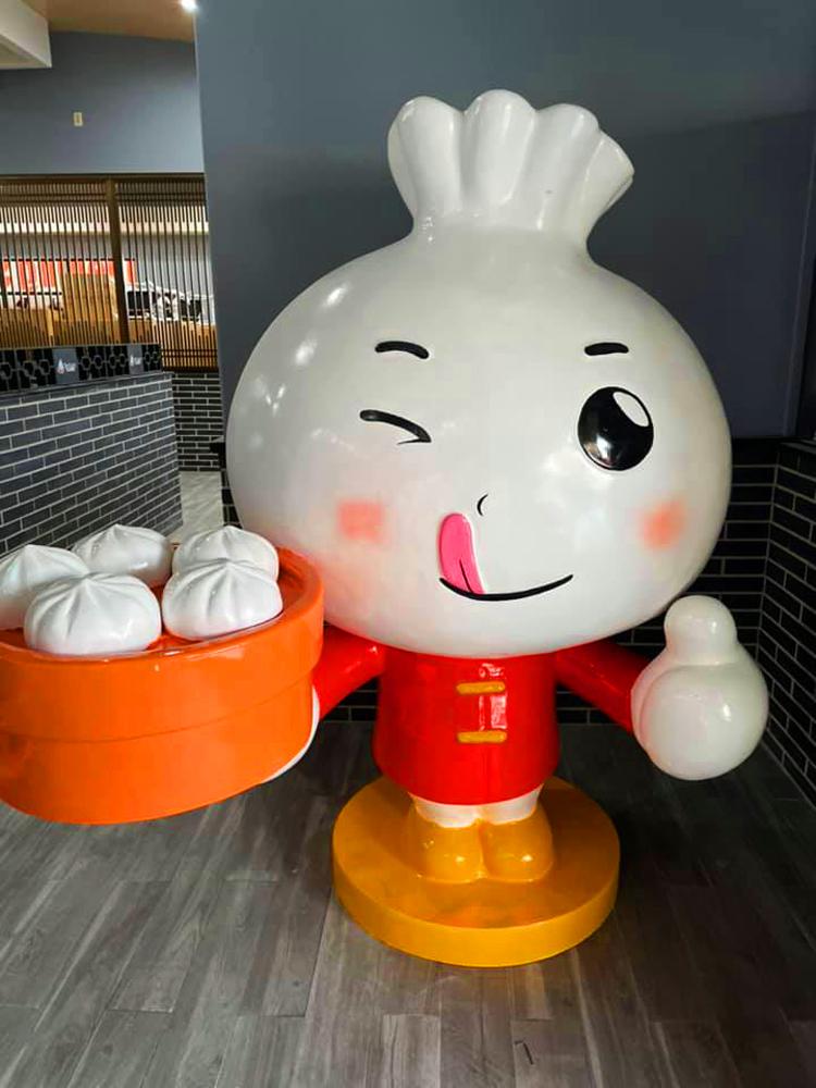 Mascot Mr. Chairman Bao, soon to part of the new Xiao Long Dumplings restaurant in Chinatown.