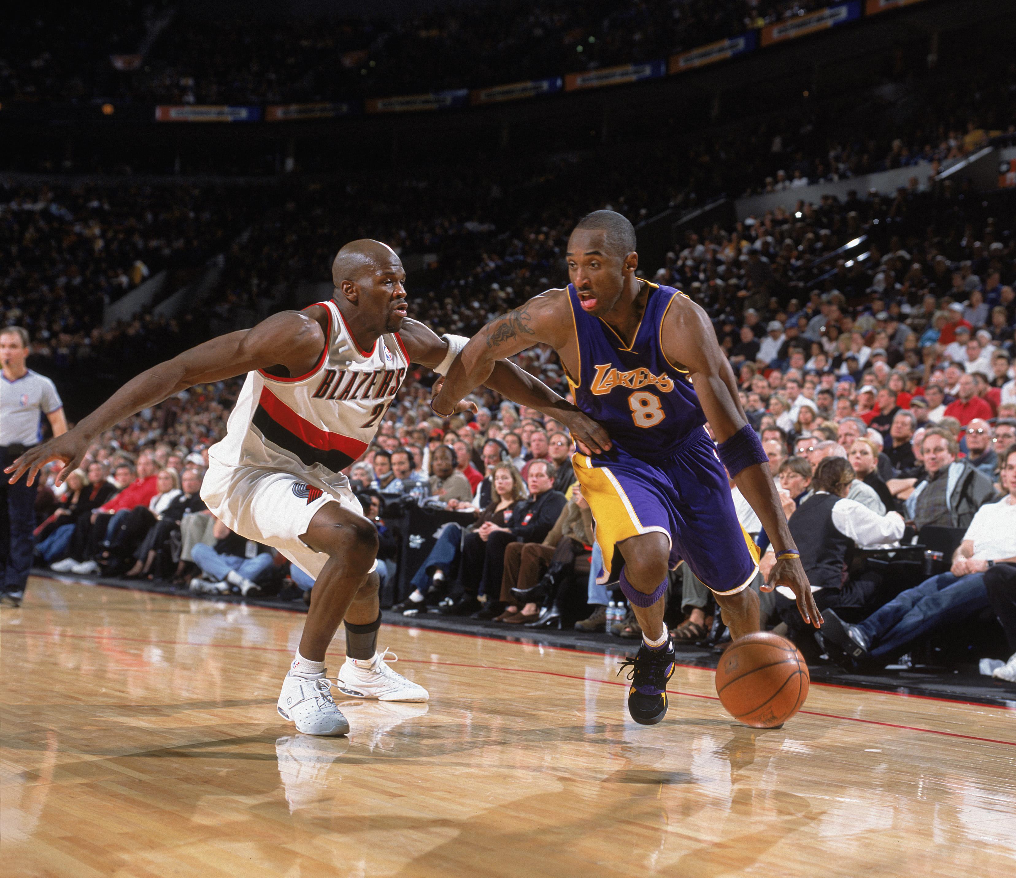 Kobe Bryant drives
