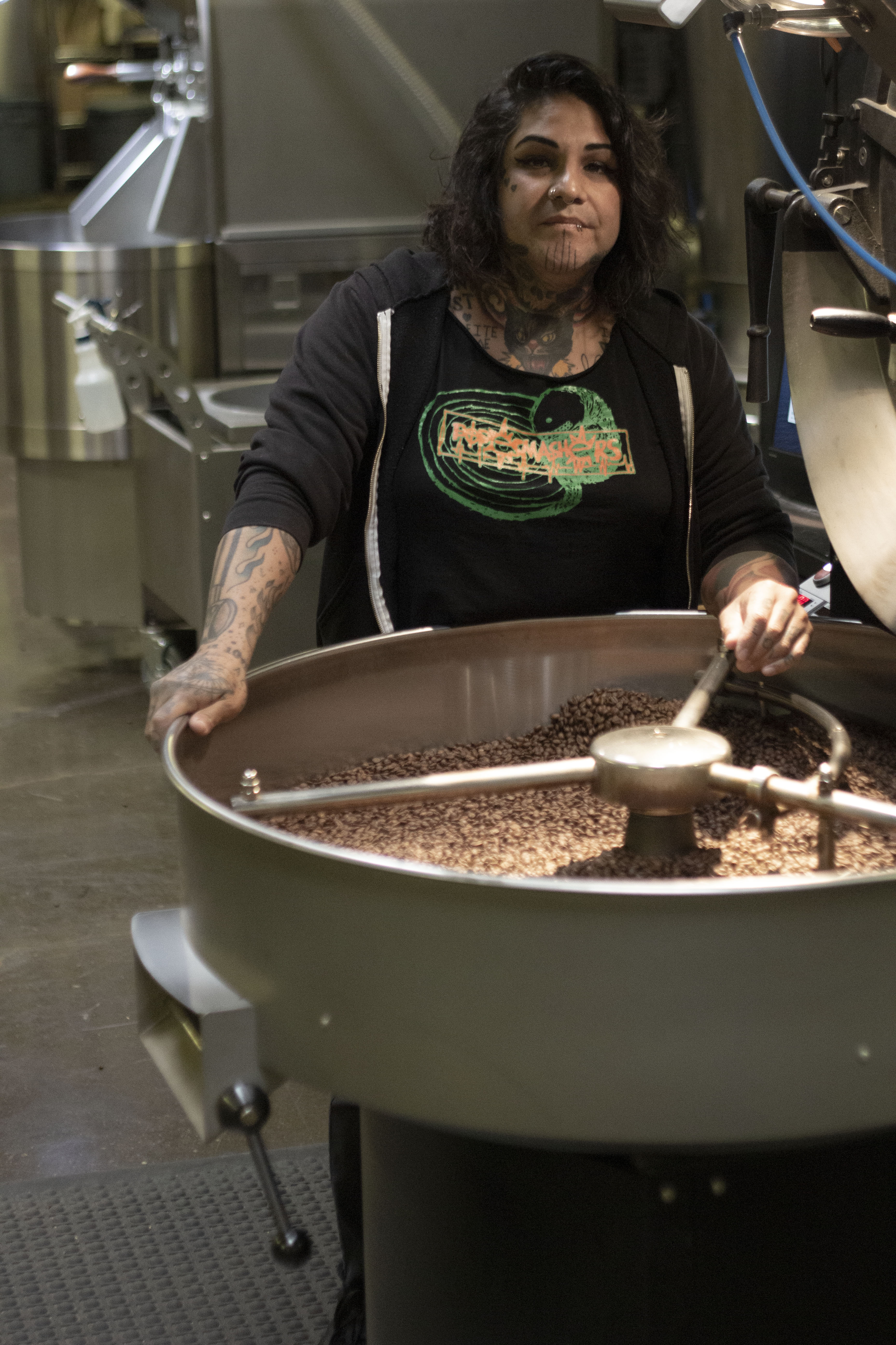 Cheyenne Xochitl Love has worked in the Bay Area coffee industry for over 28 years, and most recently founded Queer Wave Coffee, an Oakland-based micro roaster.