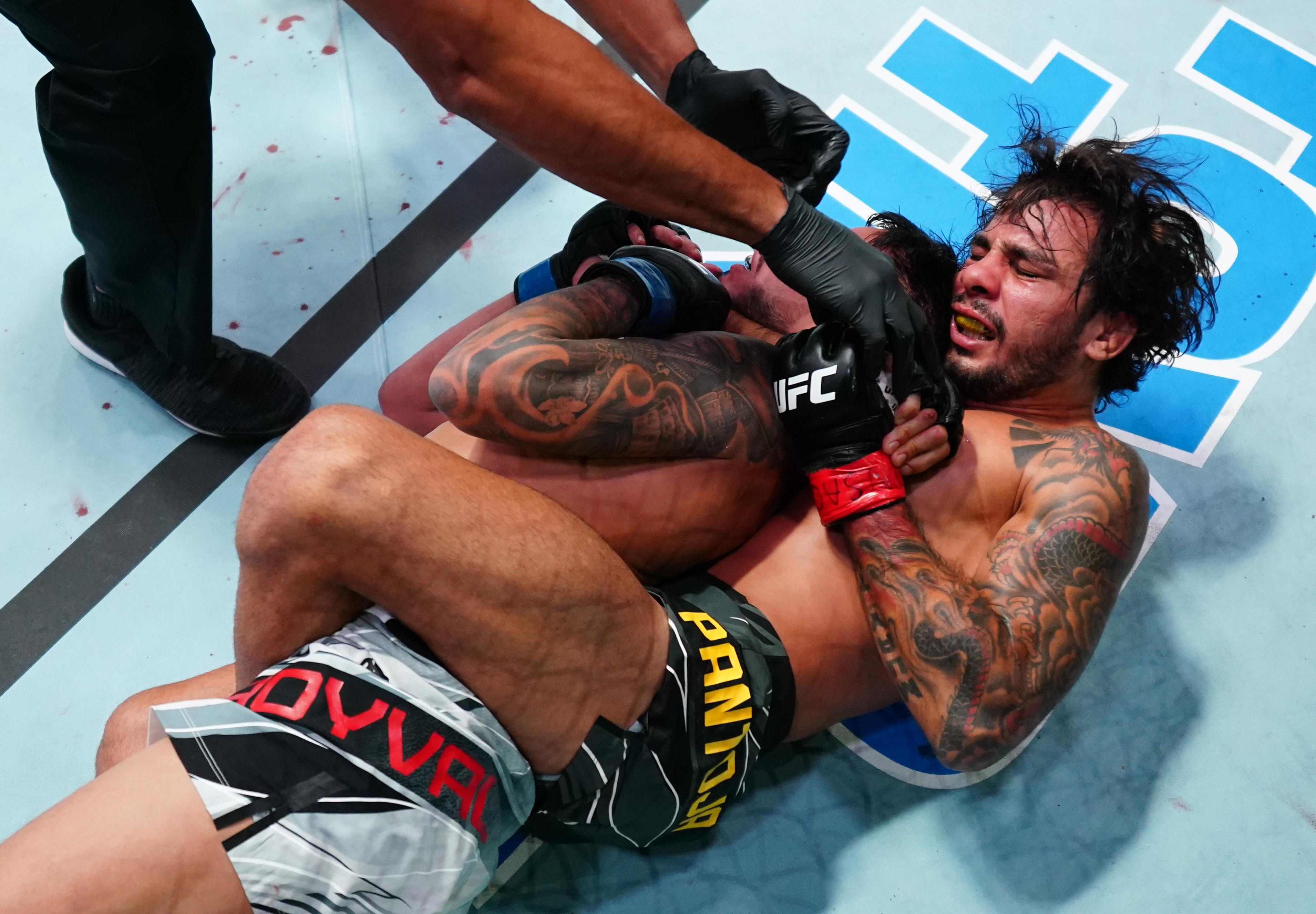 Alexandre Pantoja submitted Brandon Royval at UFC Vegas 34.